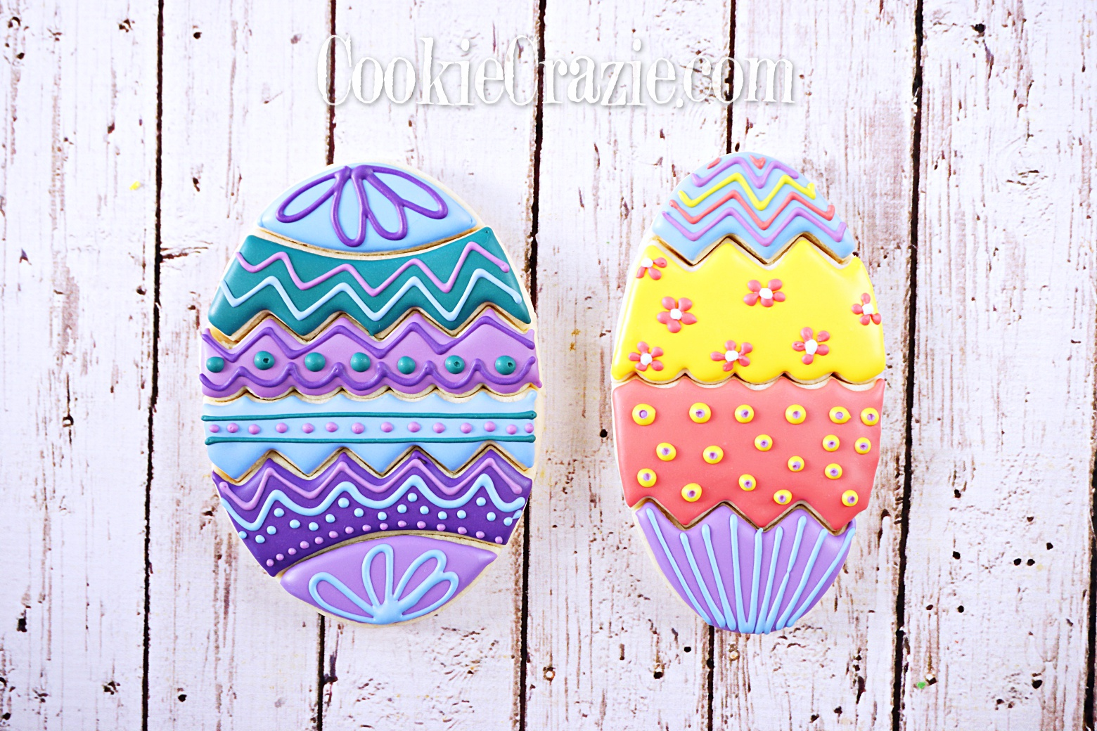 Easter Egg Puzzle Decorated Sugar Cookie YouTube video  HERE