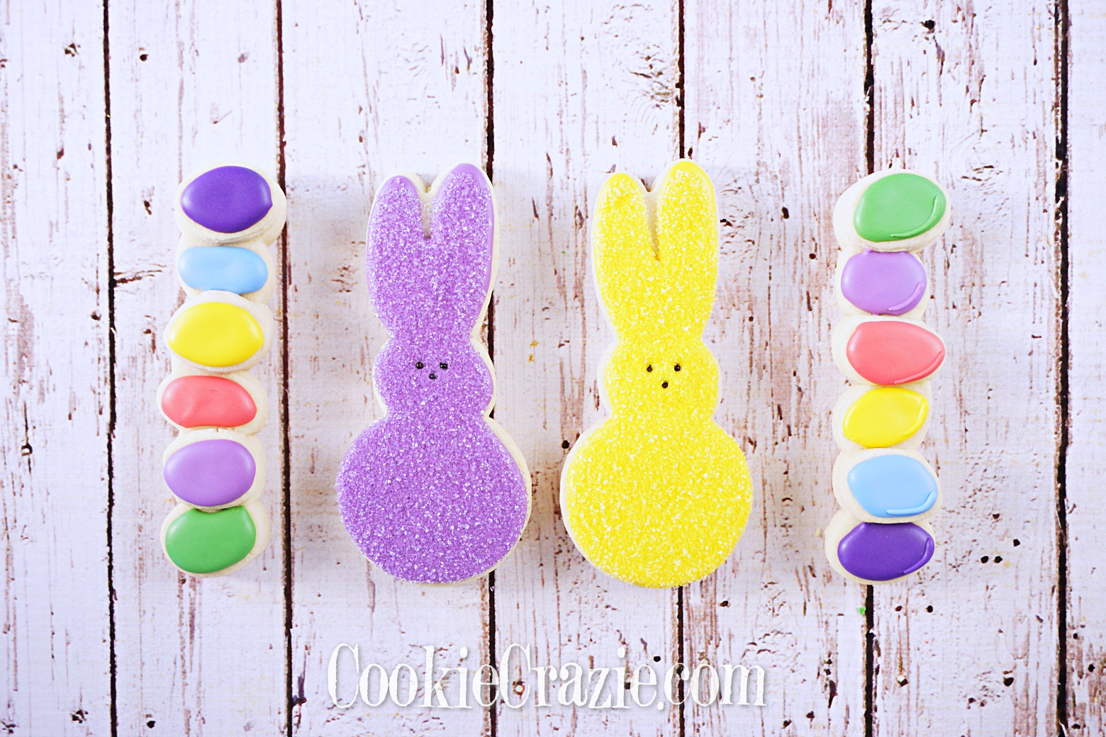 Easter Rabbit Decorated Sugar Cookies YouTube video  HERE