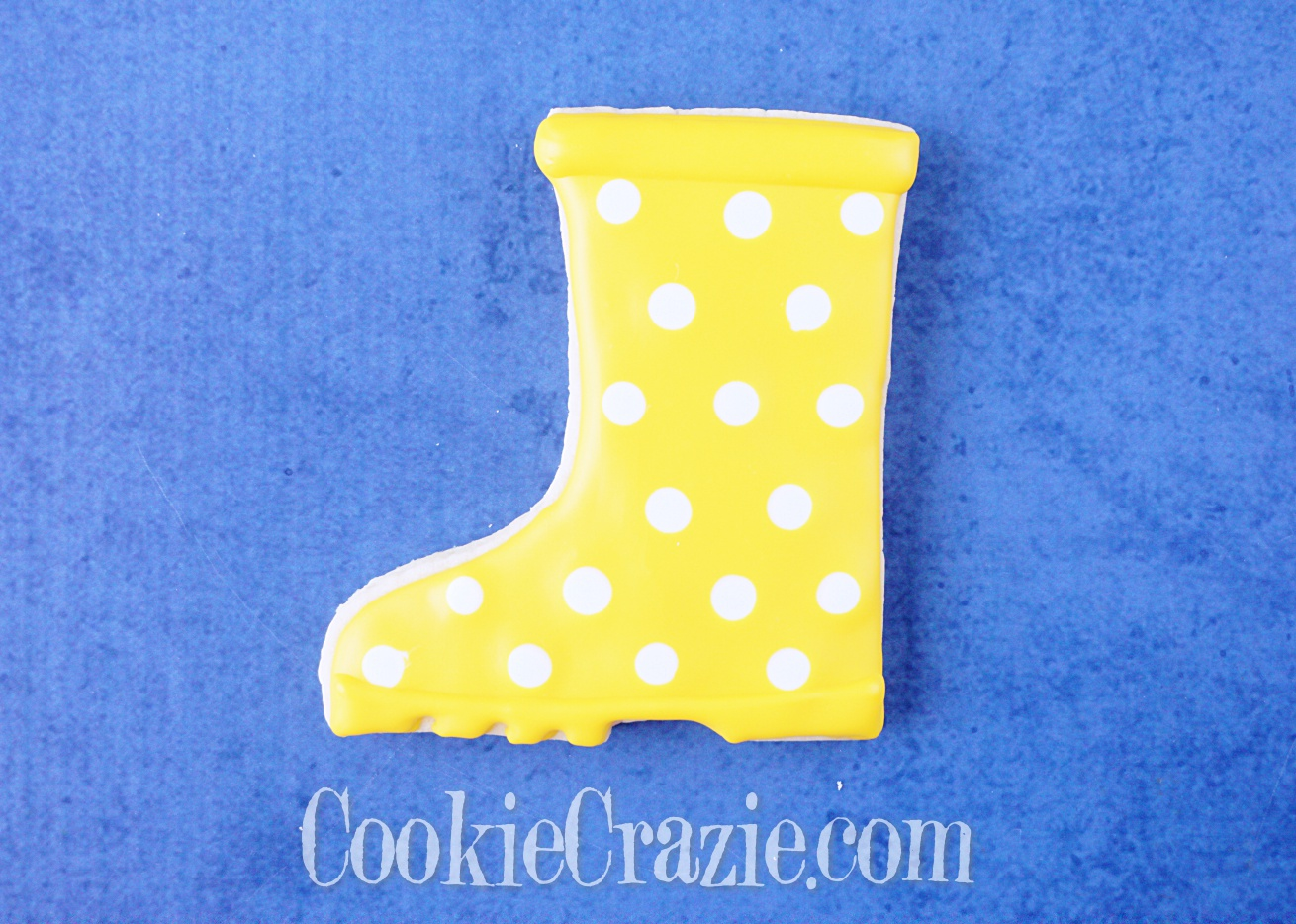 Rain Boot Decorated Sugar Cookie YouTube video  HERE