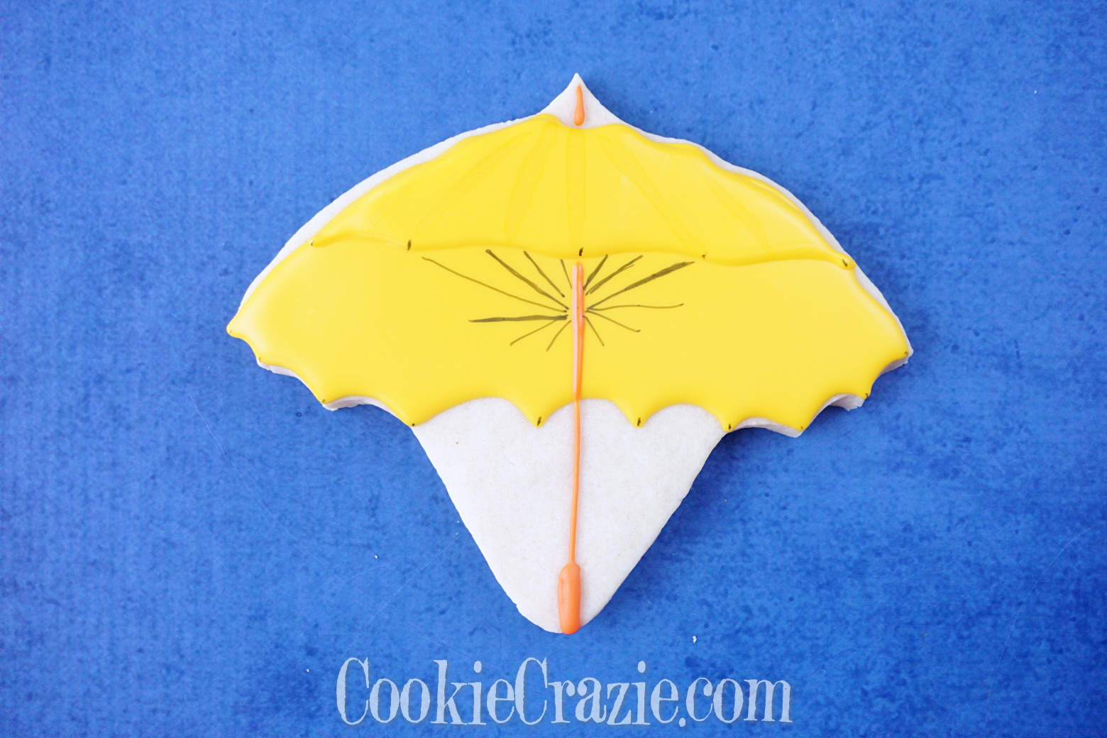 Umbrella Decorated Sugar Cookie YouTube video  HERE
