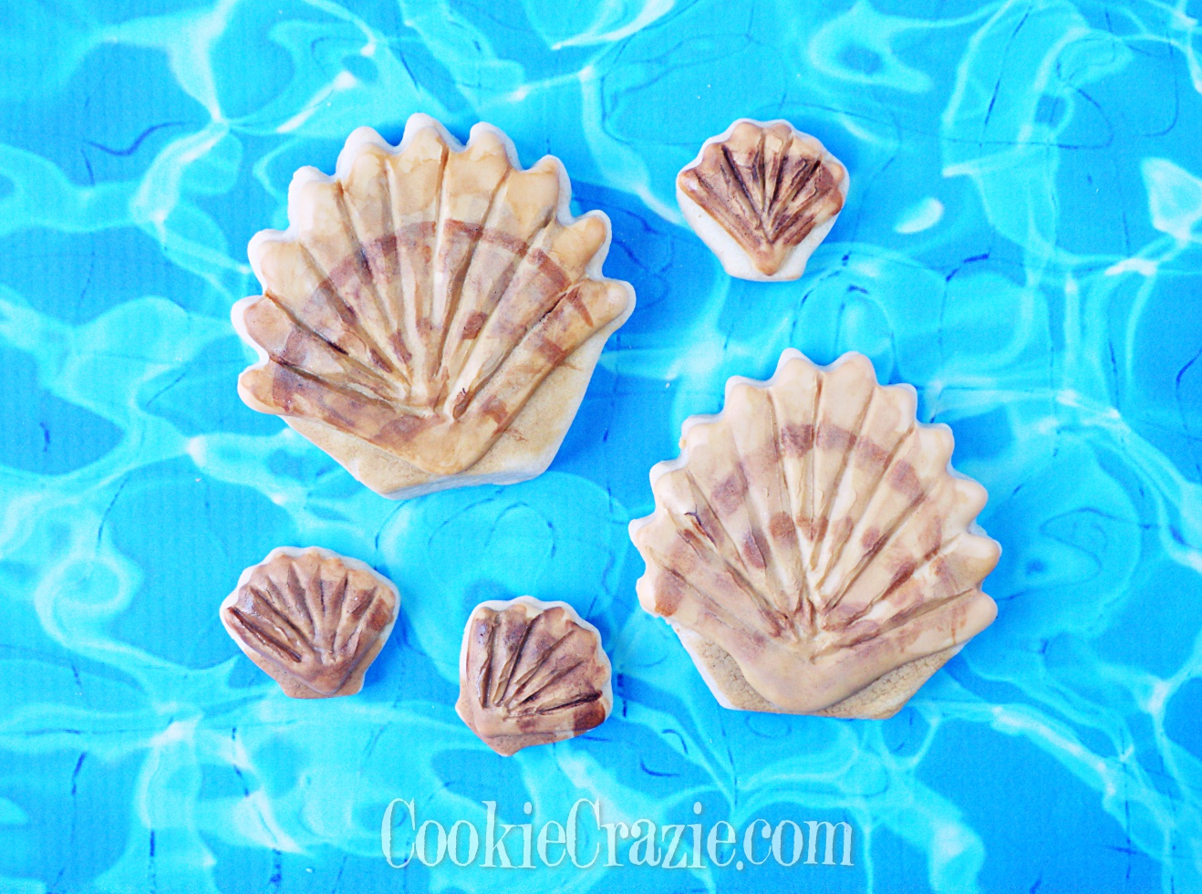 Seashell Decorated Sugar Cookie YouTube video  HERE