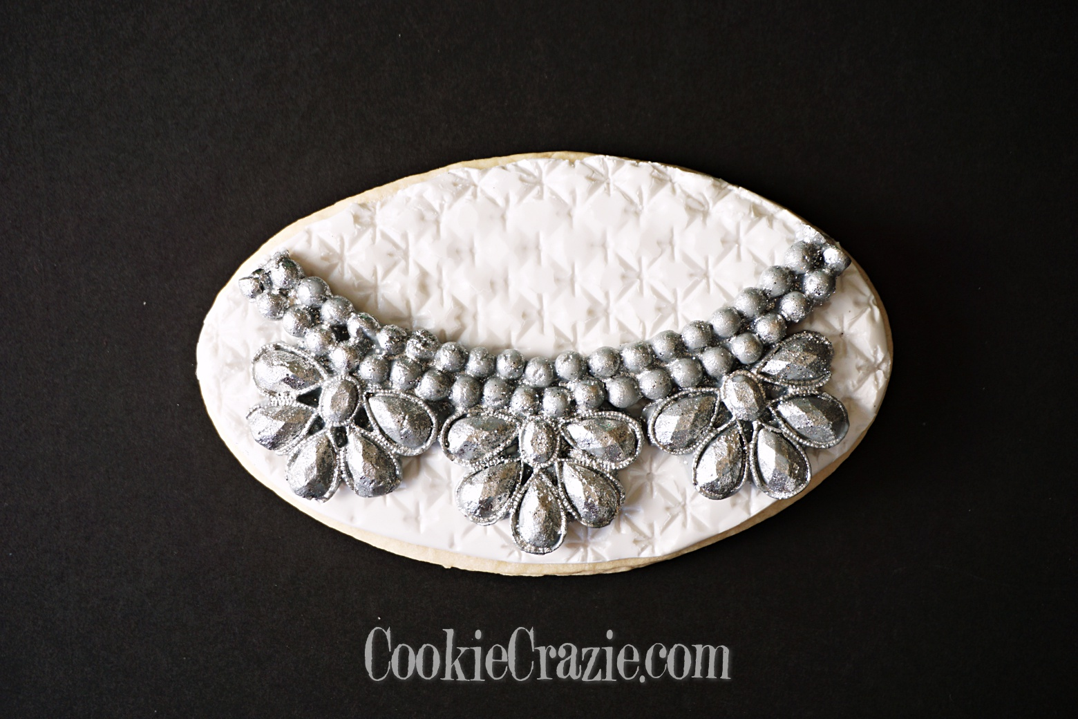 Silver Jewelry Decorated Sugar Cookie YouTube video  HERE