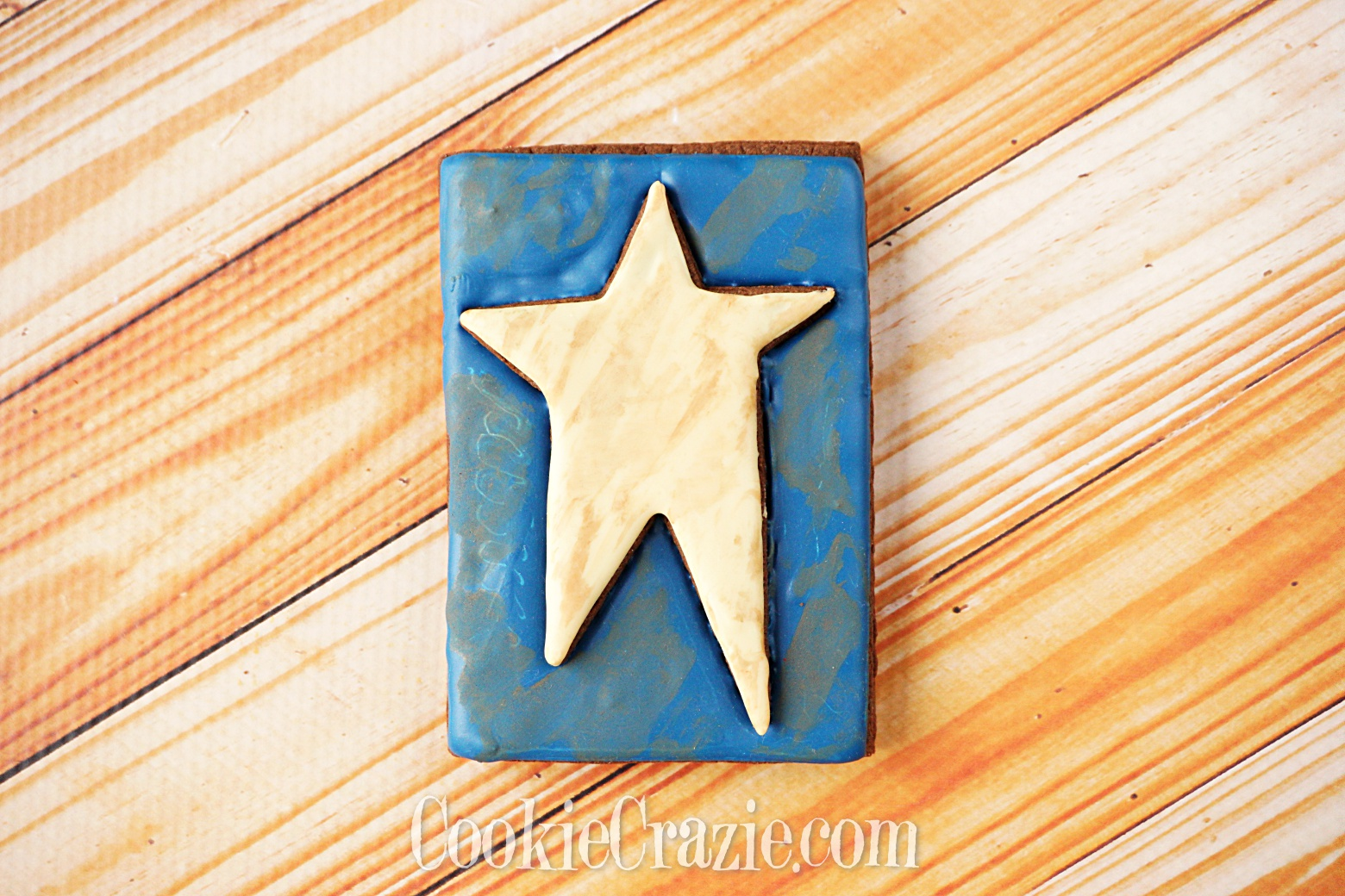 Patriotic Primitive Star Decorated Sugar Cookie YouTube video  HERE