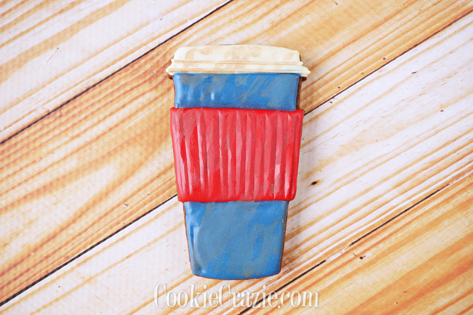 USA Patriotic To-Go Coffee Cup Decorated Sugar Cookie YouTube video  HERE