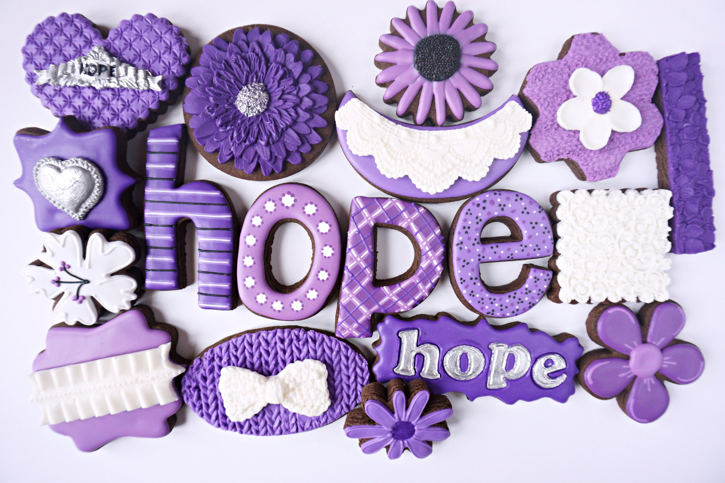 Living with HOPE Decorated Cookie Collection