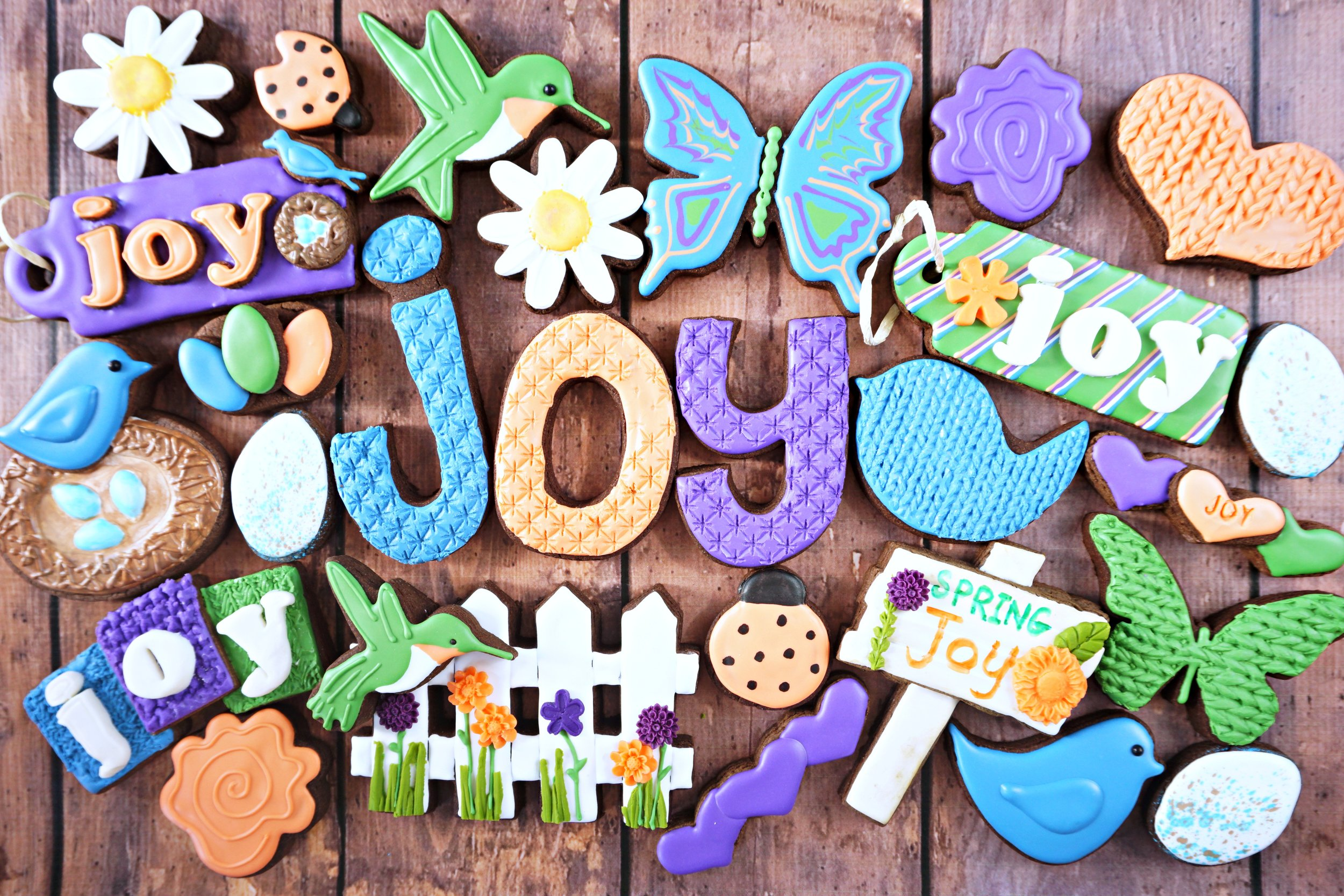 Spring Joy Decorated Cookie Collection