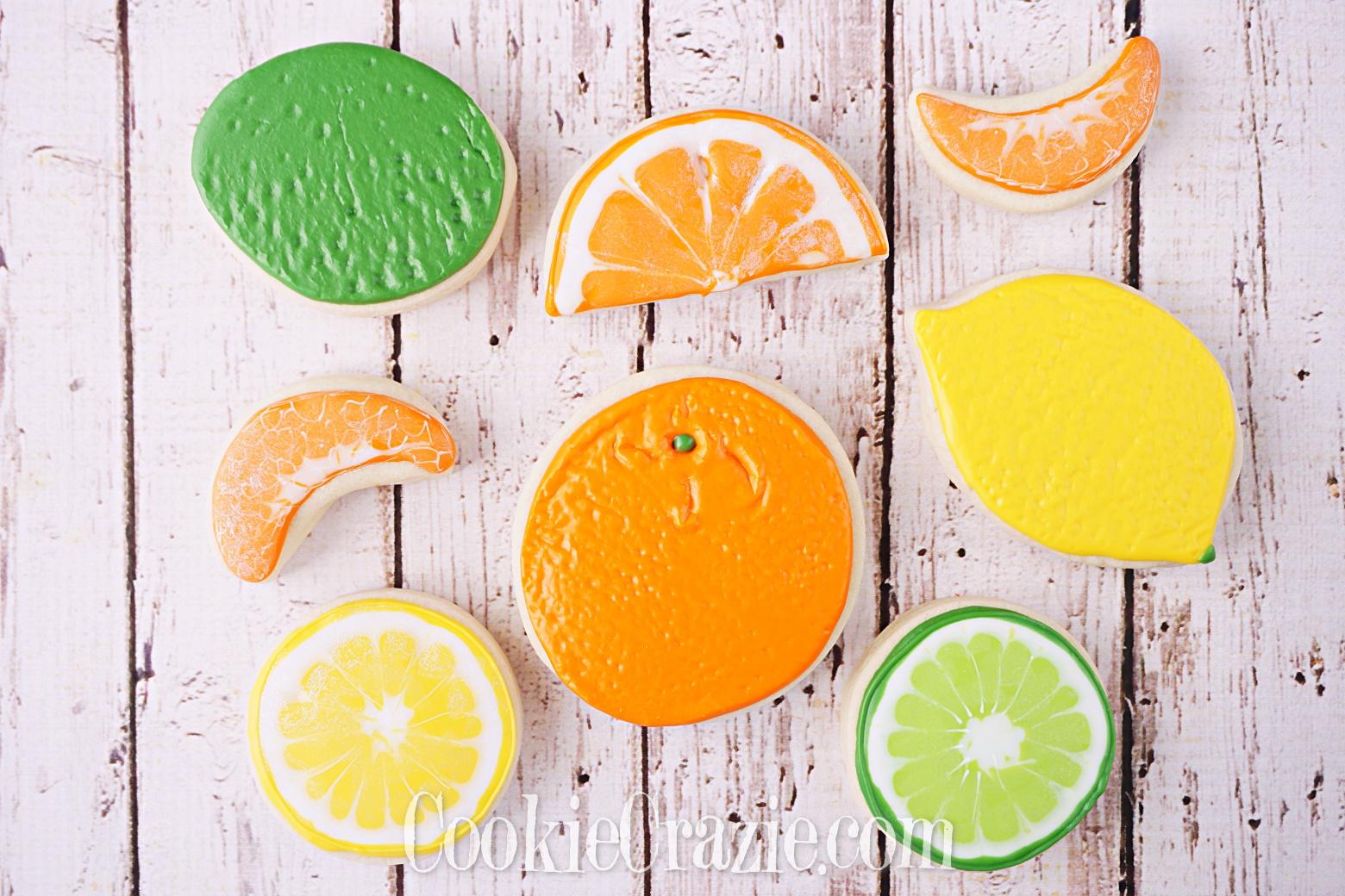 Orange Decorated Sugar Cookies YouTube video  HERE