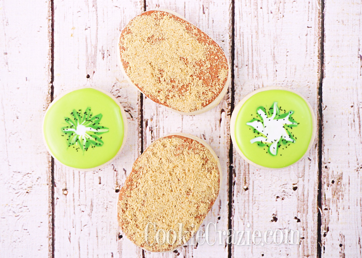 Kiwi Decorated Sugar Cookie YouTube video  HERE