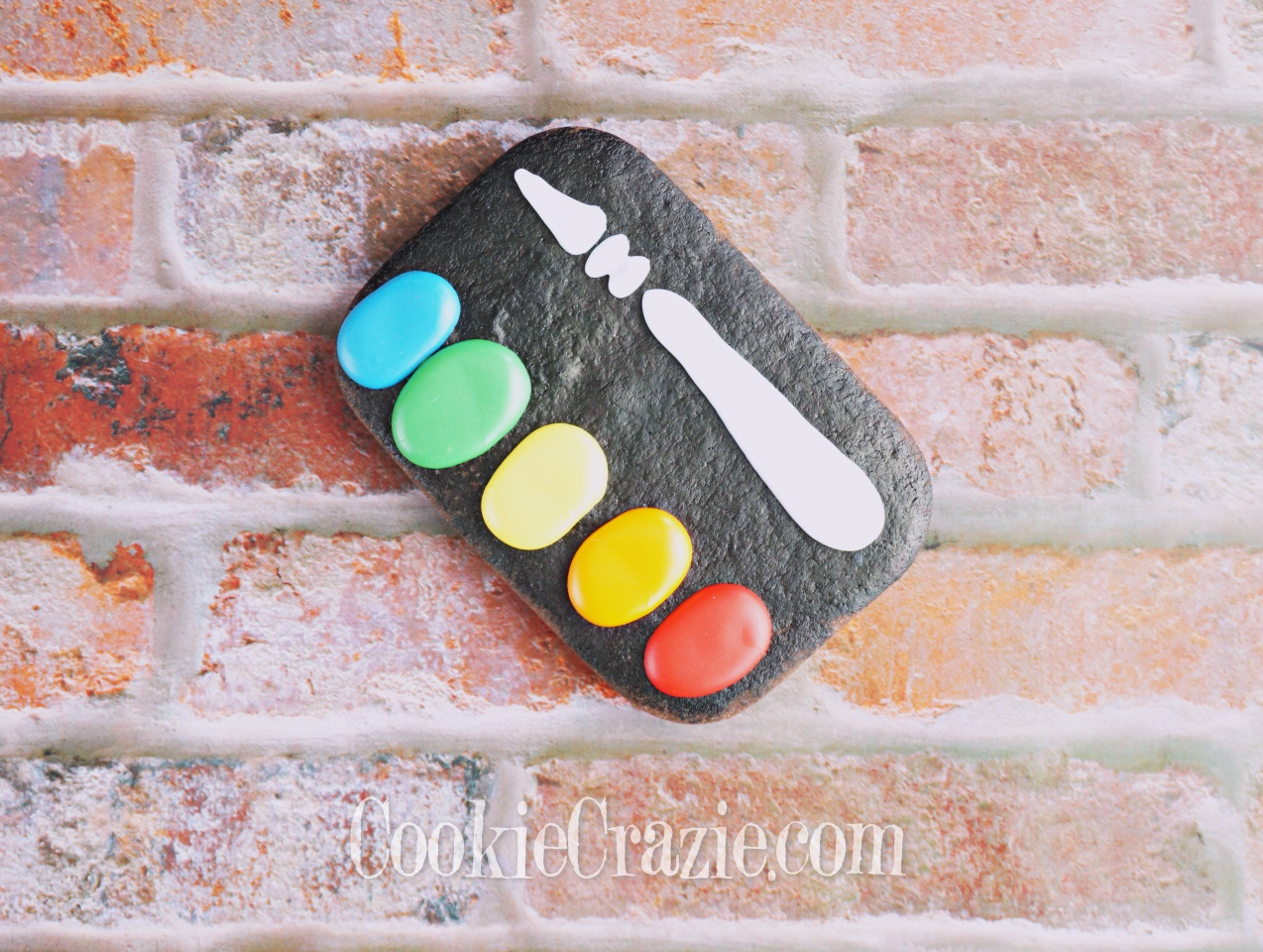 Paint Pallette Decorated Sugar Cookie YouTube video  HERE