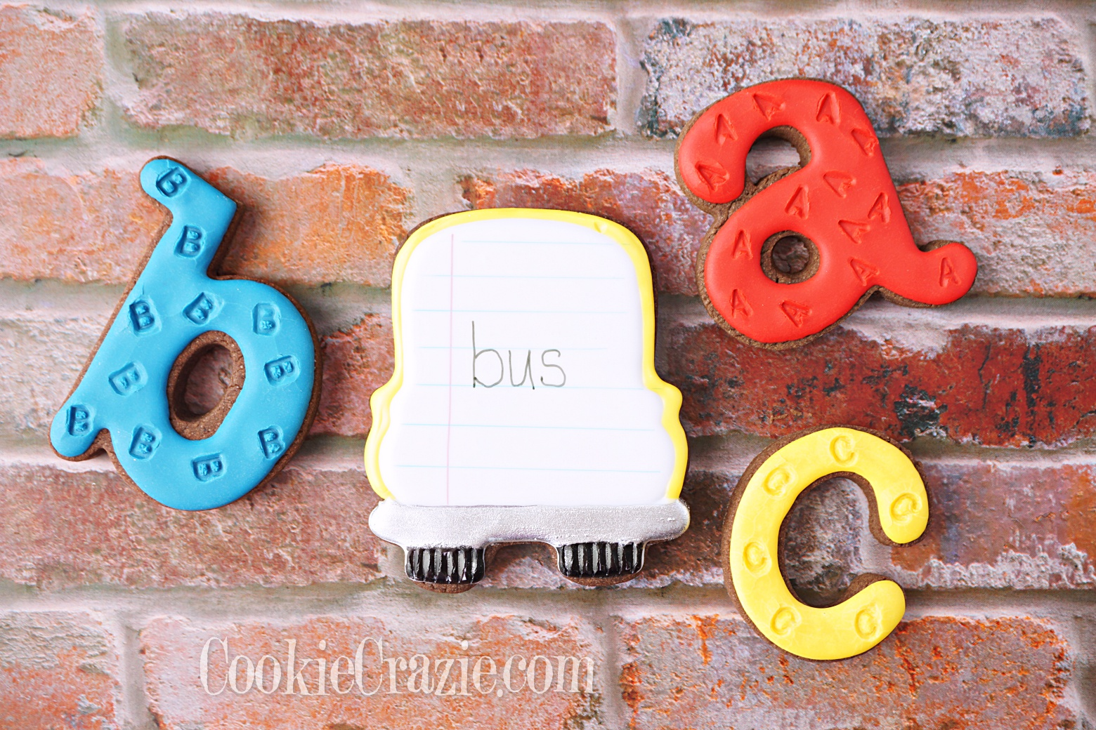 School Bus Decorated Sugar Cookie YouTube video  HERE
