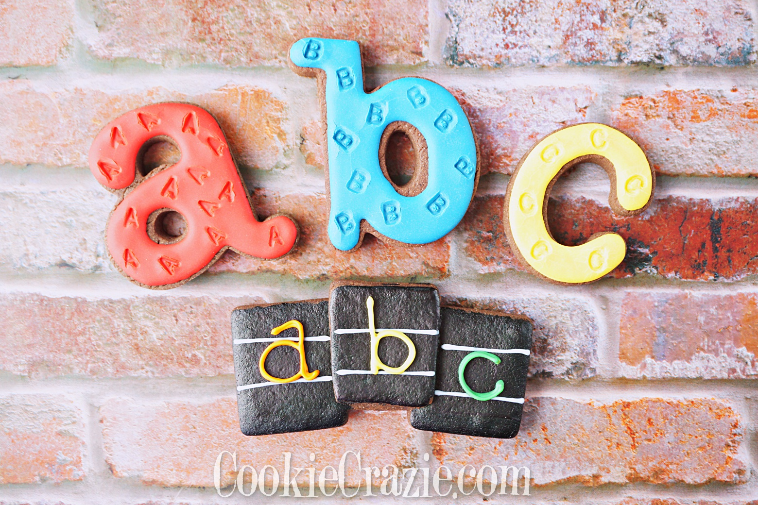 ABC Trio Decorated Sugar Cookie YouTube video  HERE