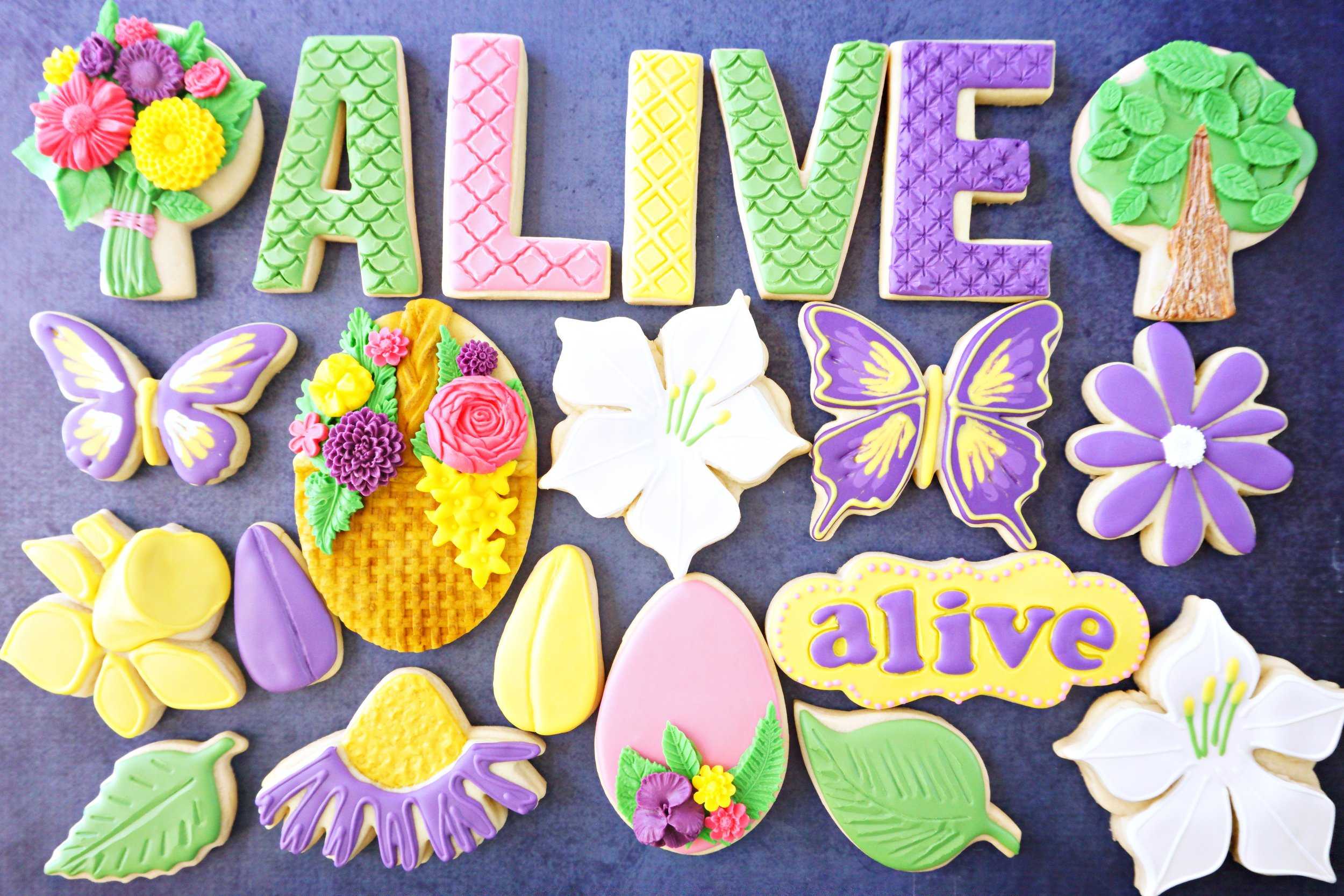 Spring ALIVE Decorated Cookie Collection