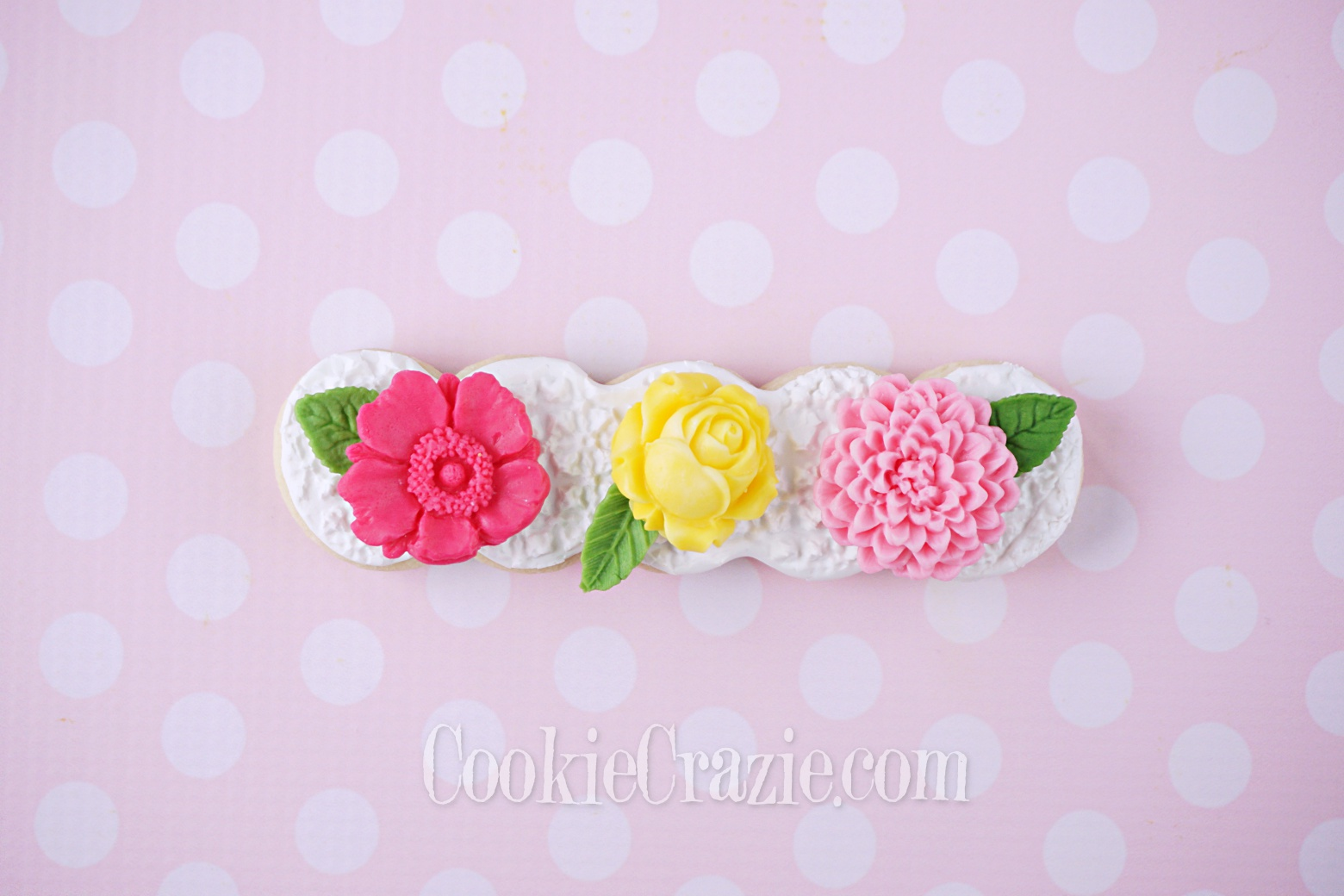 Flower Delight Decorated Sugar Cookie YouTube video  HERE