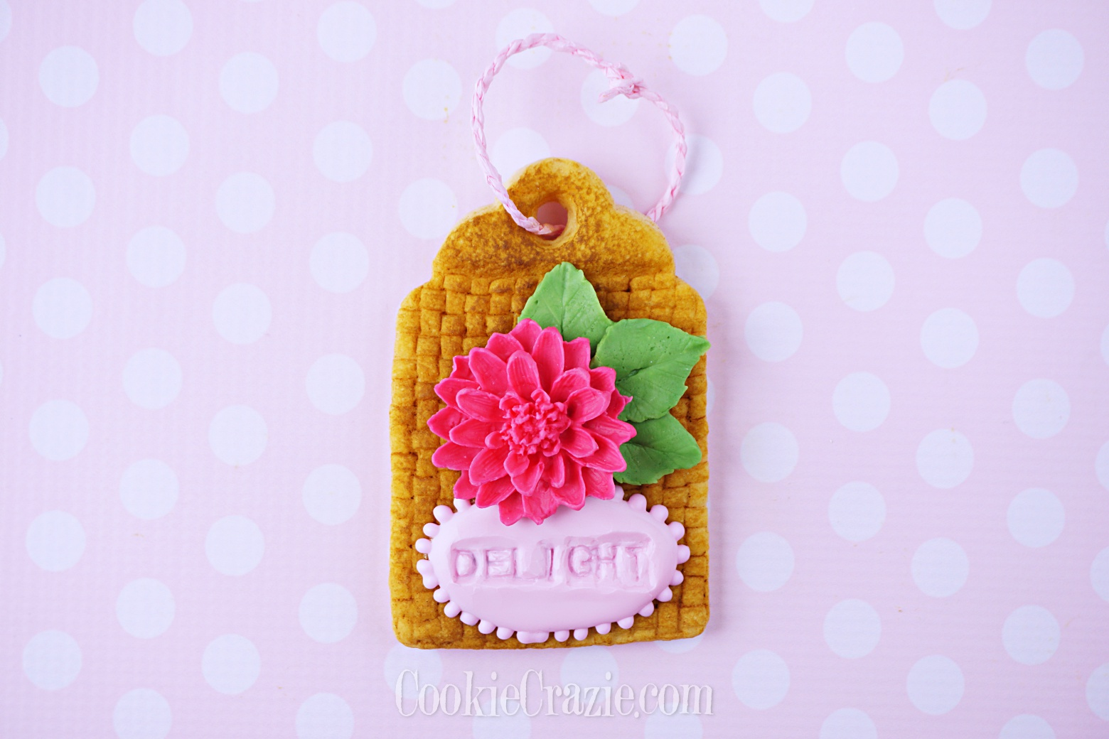 Basket Gift Tag Decorated Sugar Cookie YouTube video  HERE