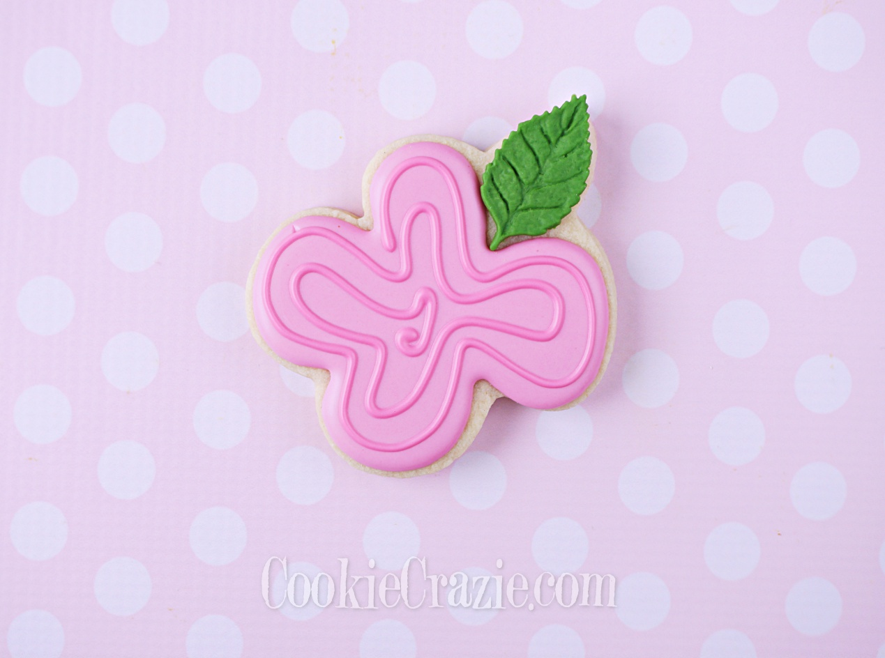 Flower with Leaf Decorated Sugar Cookie YouTube video  HERE