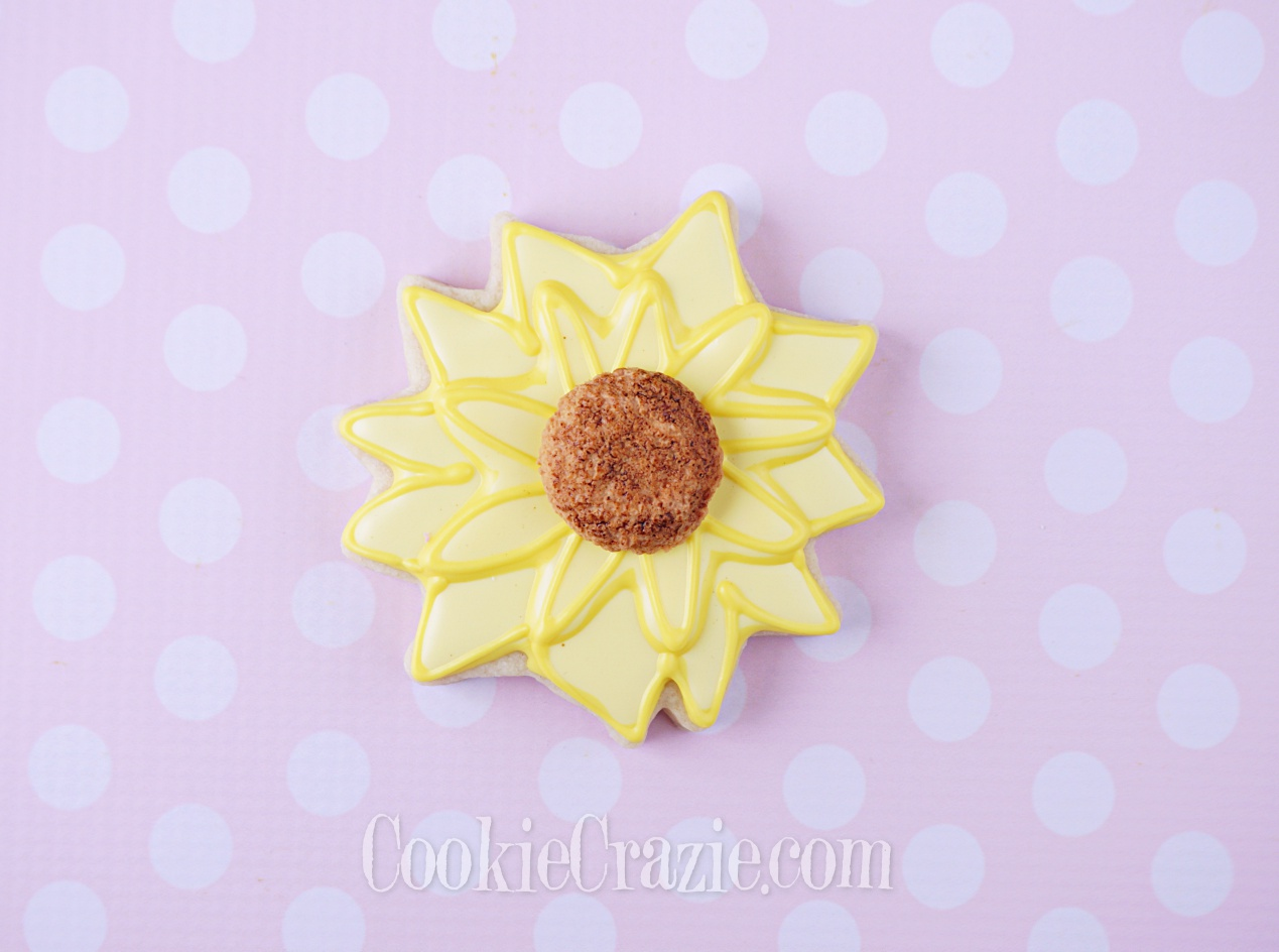 Yellow Flower Decorated Sugar Cookie YouTube video  HERE