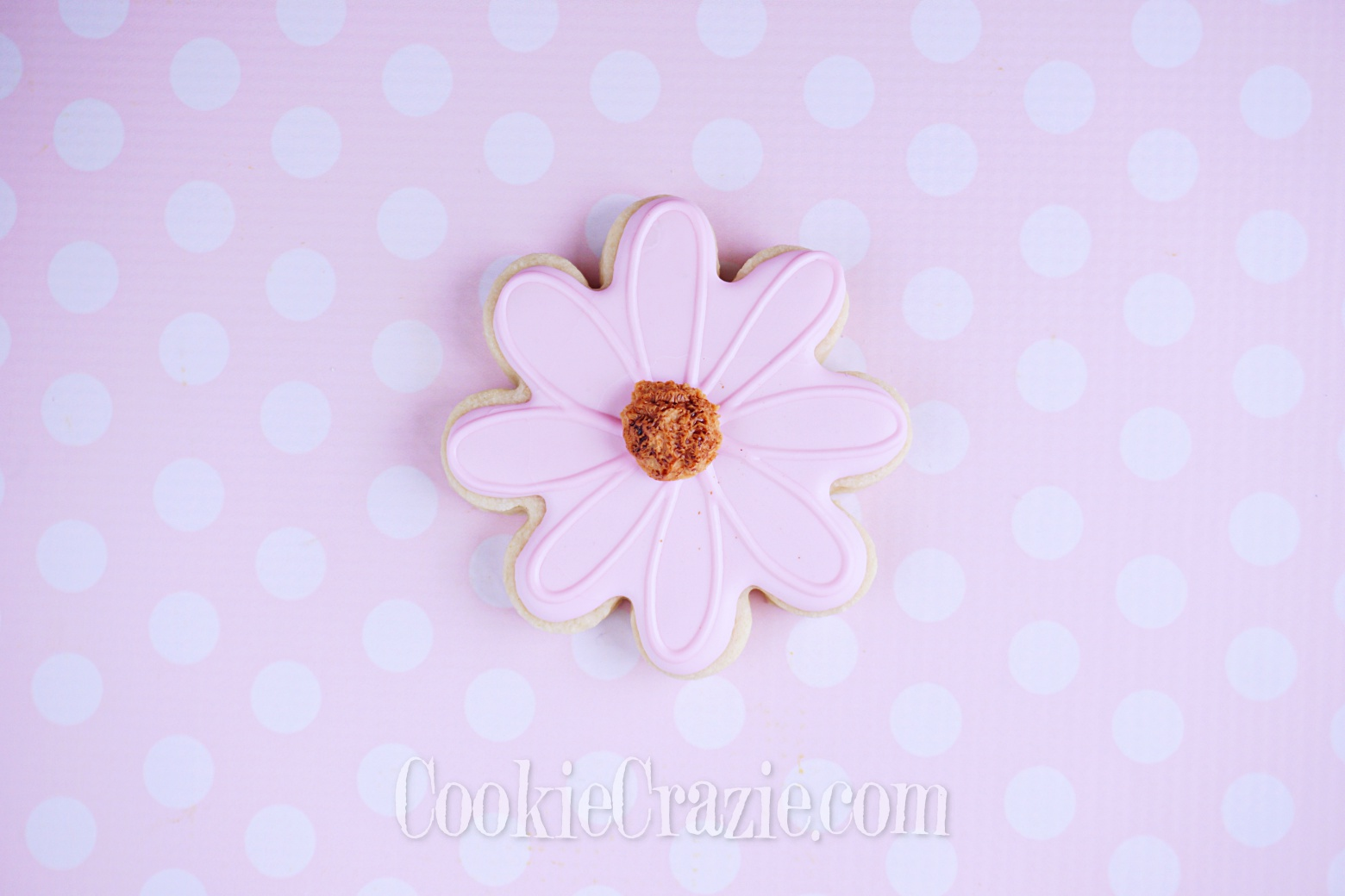 Pink Flower Decorated Sugar Cookie YouTube video  HERE