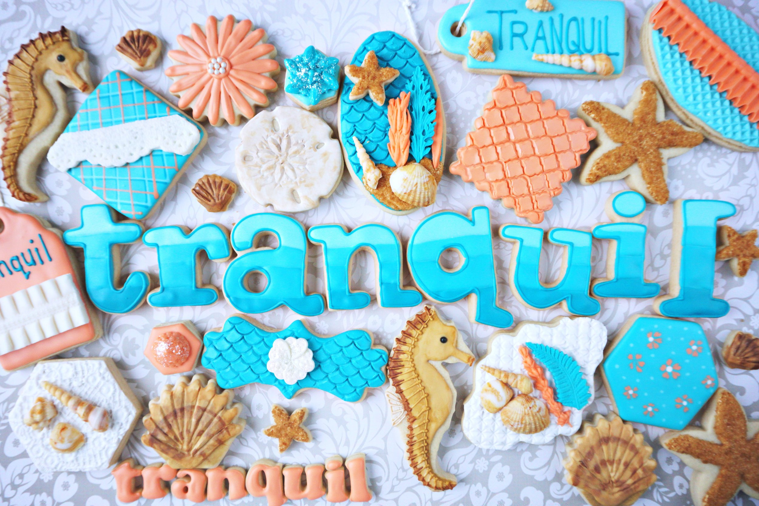 Tranquil Decorated Cookie Collection