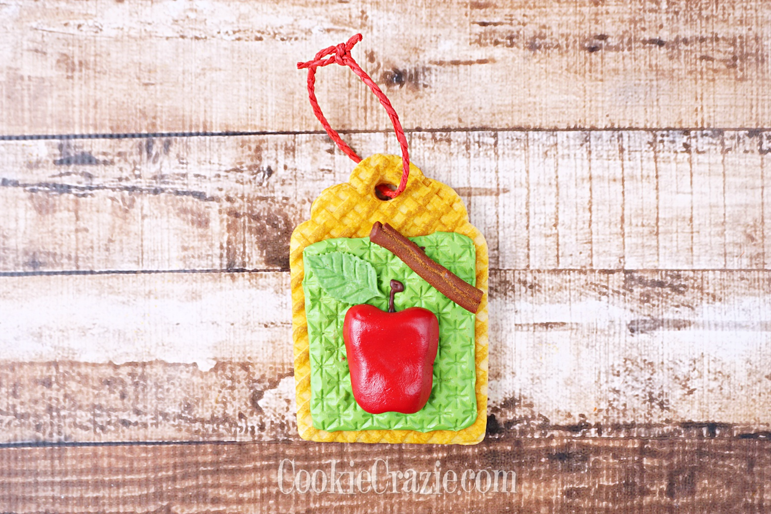 Apple Harvest Gift Tag Decorated Sugar Cookie YouTube video  HERE