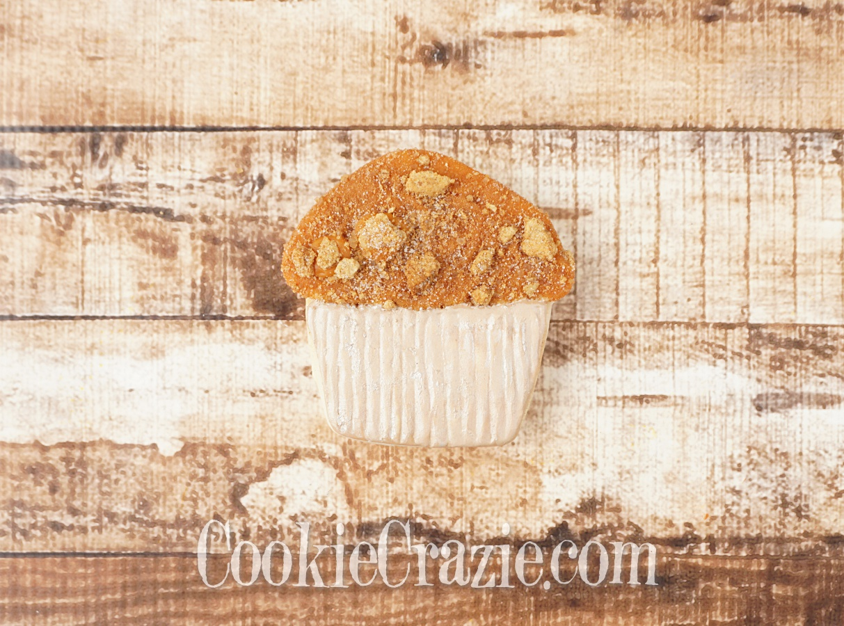 Apple Crumb Muffin Decorated Sugar Cookie YouTube video  HERE