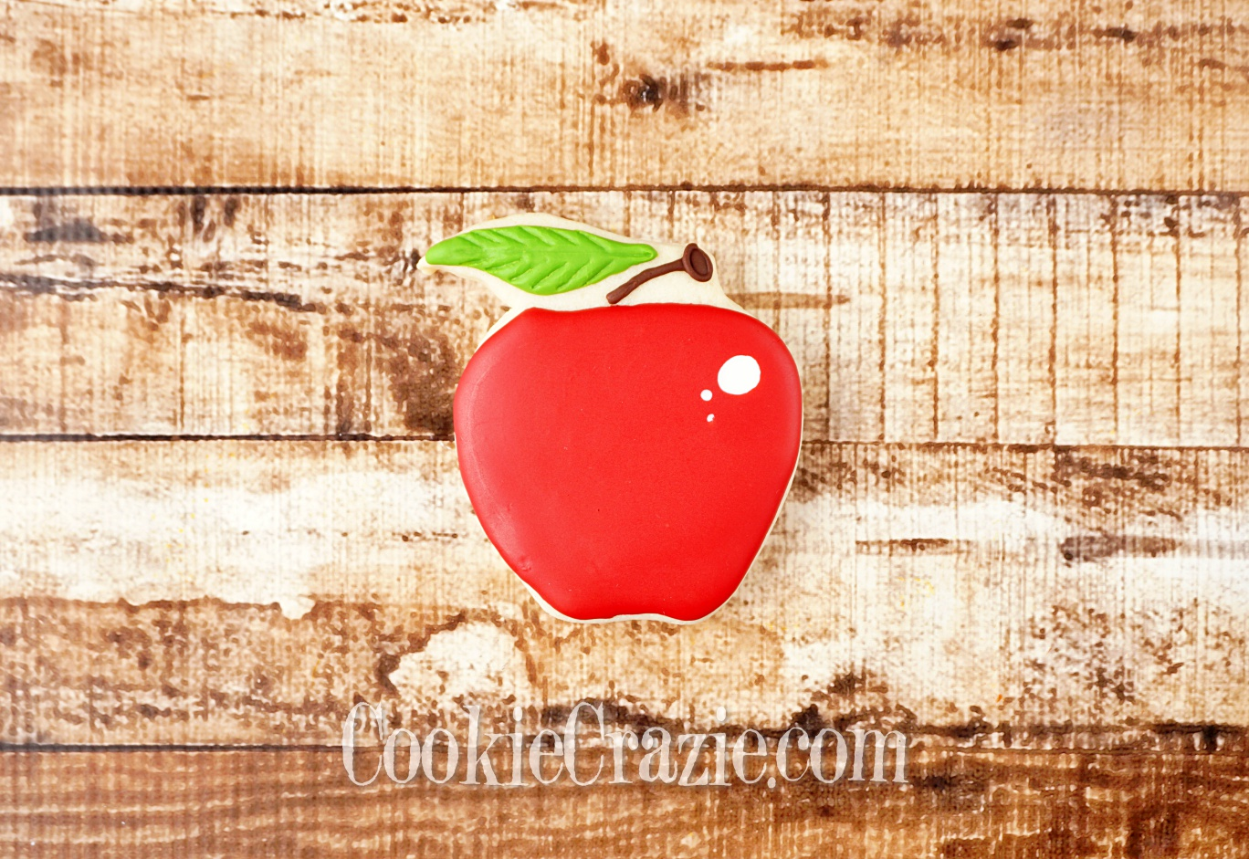 Apple Decorated Sugar Cookie YouTube video  HERE