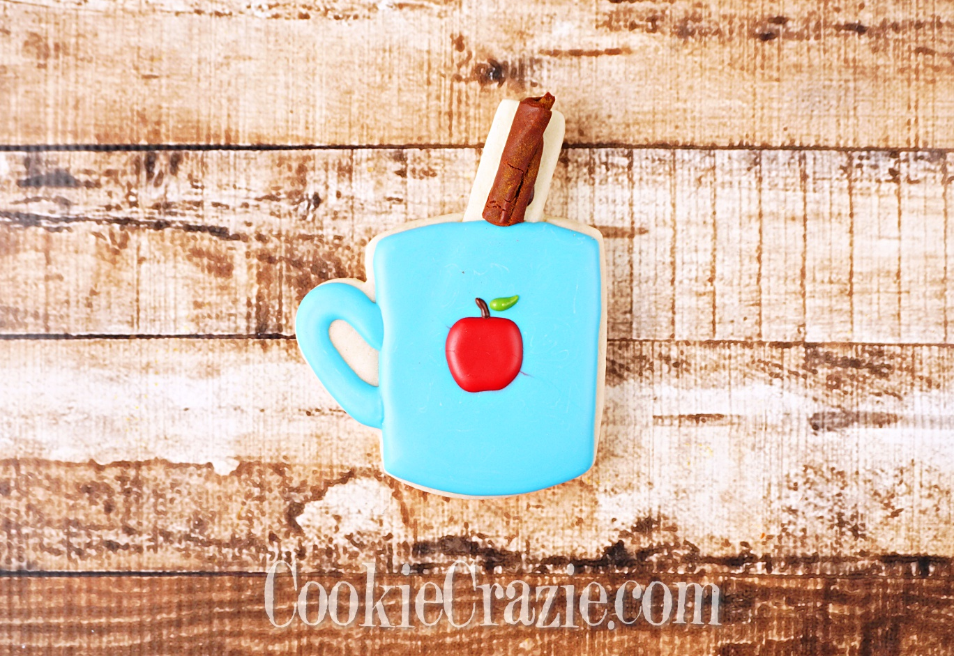 Apple Harvest Mug with Cinnamon Stick Decorated Sugar Cookie YouTube video  HERE