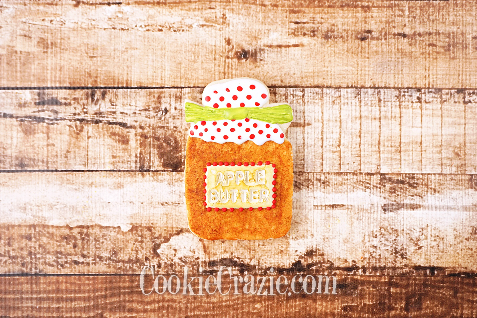Apple Butter Jar Decorated Sugar Cookie YouTube video  HERE