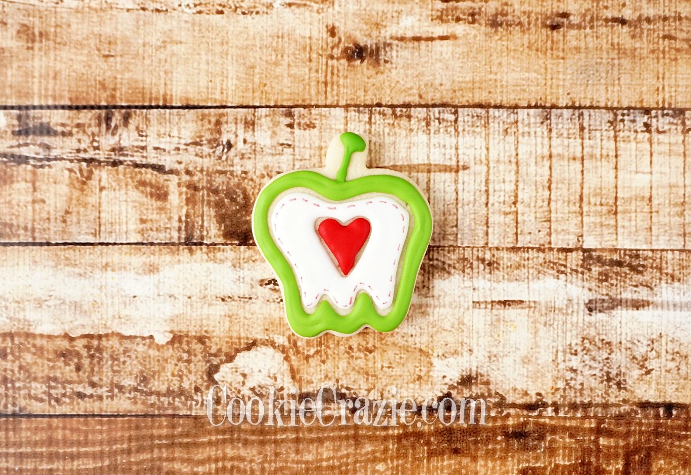 Apple with Heart Decorated Sugar Cookie YouTube  HERE
