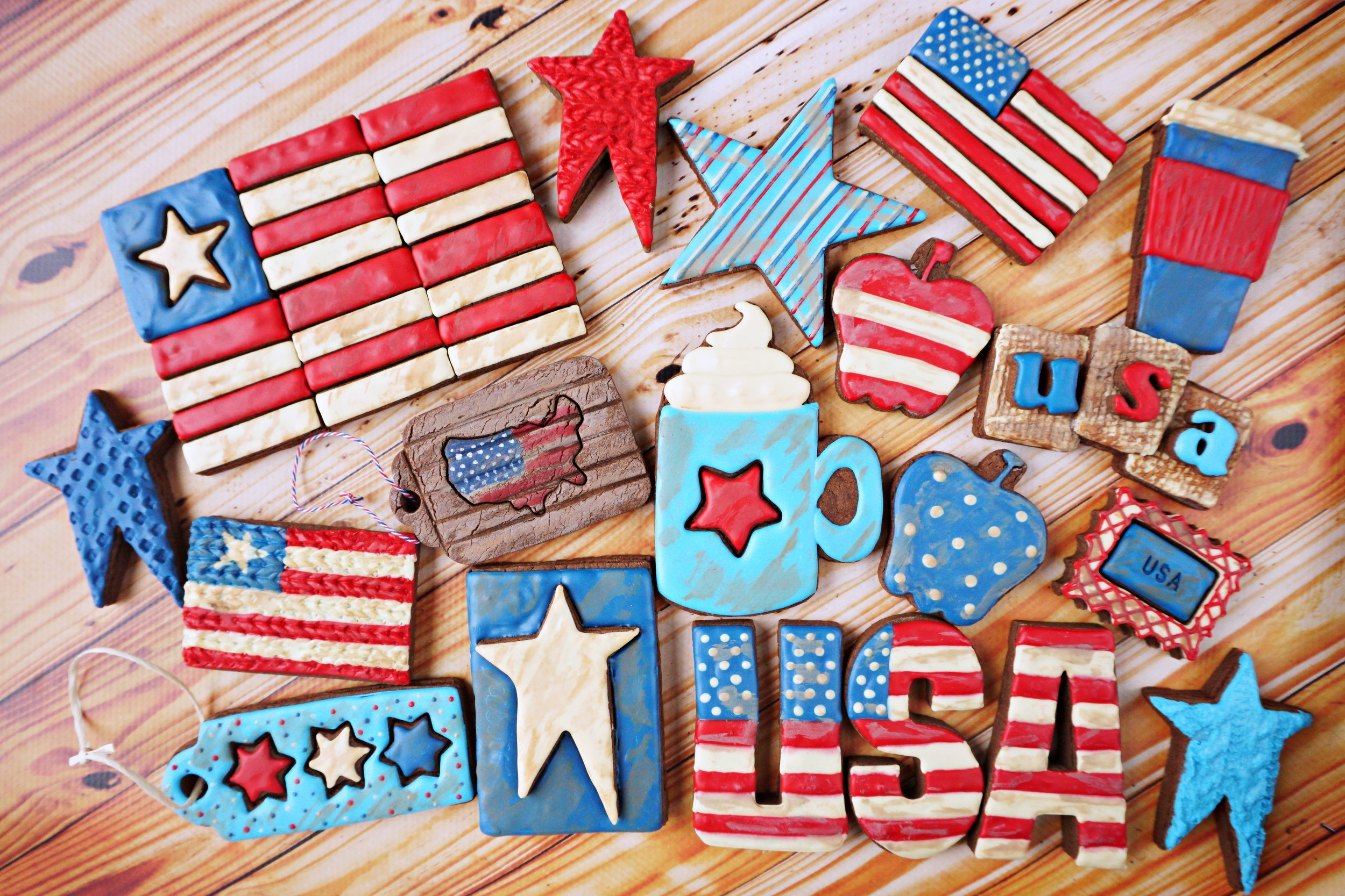 Rustic Americana Decorated Cookie Collection