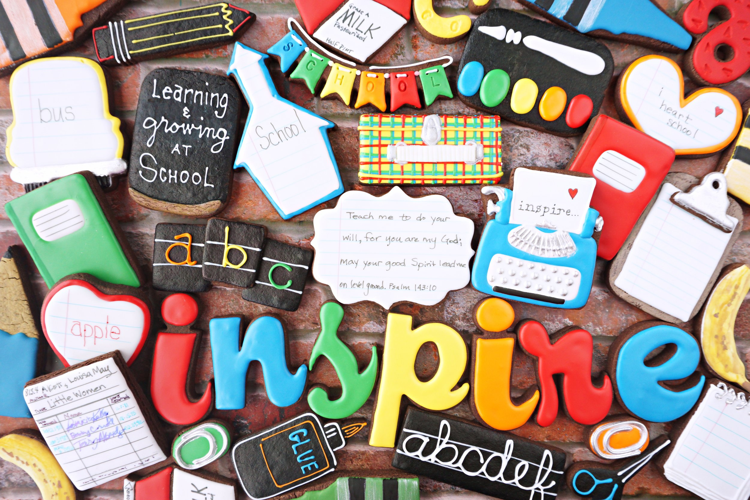 INSPIRE 2019 Back-To-School Decorated Cookie Collection