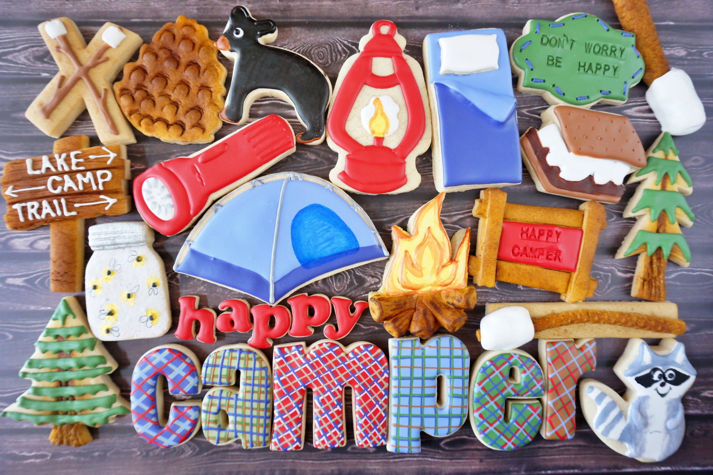 Happy Camper Decorated Cookie Collection