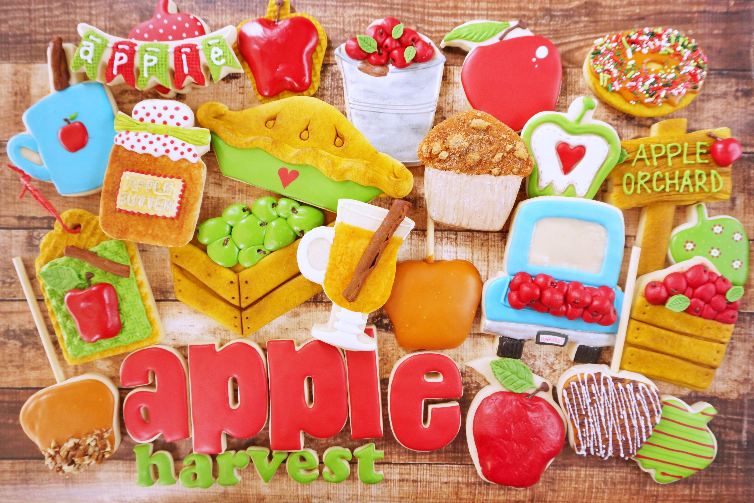 Apple Harvest Decorated Cookie Collection