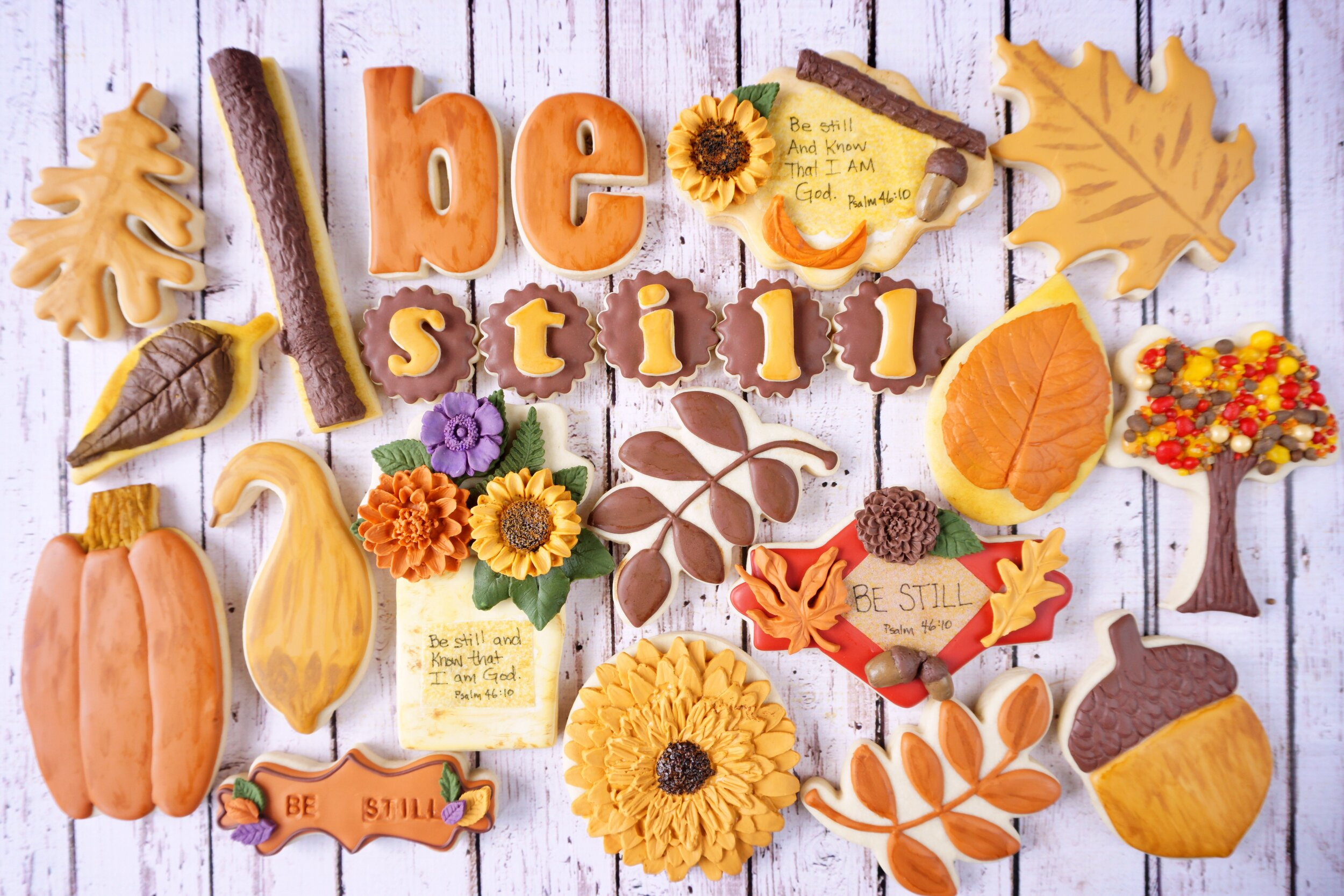 Be Still Thanksgiving Decorated Cookie Collection