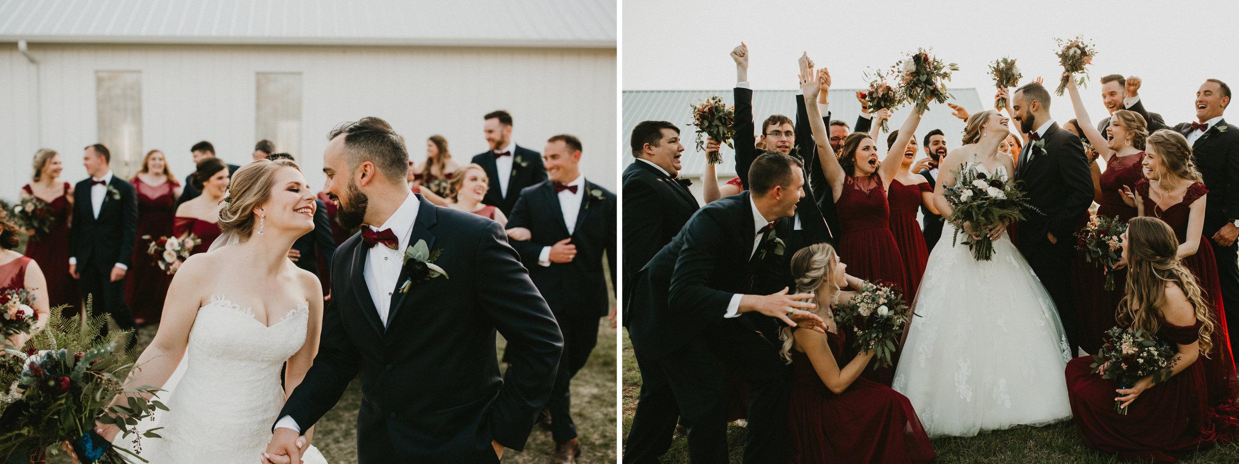 The Farmhouse Burgundy Bridal Party.jpg