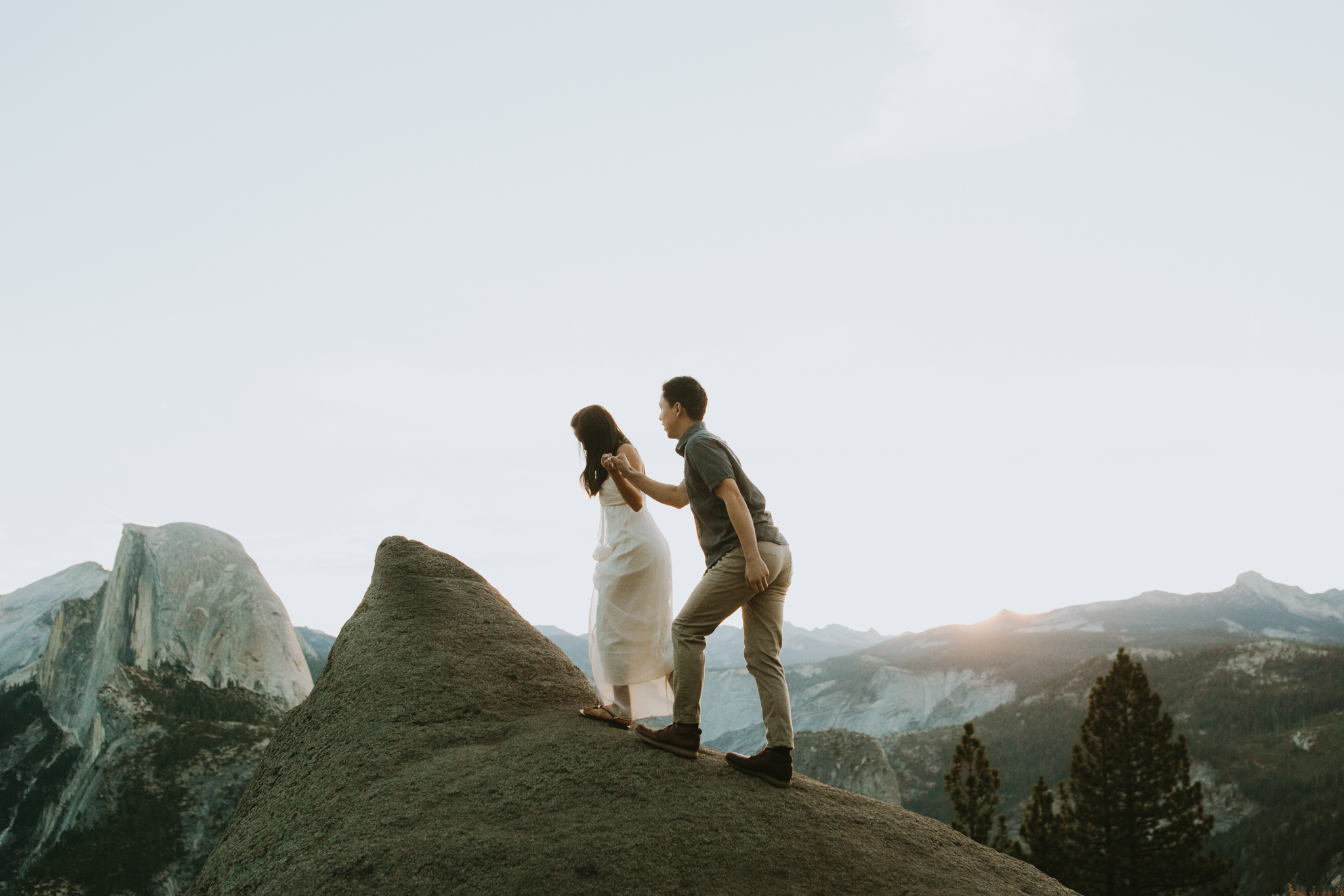 Sunrise at Glacier Point Yosemite Engagement Session-10.jpg
