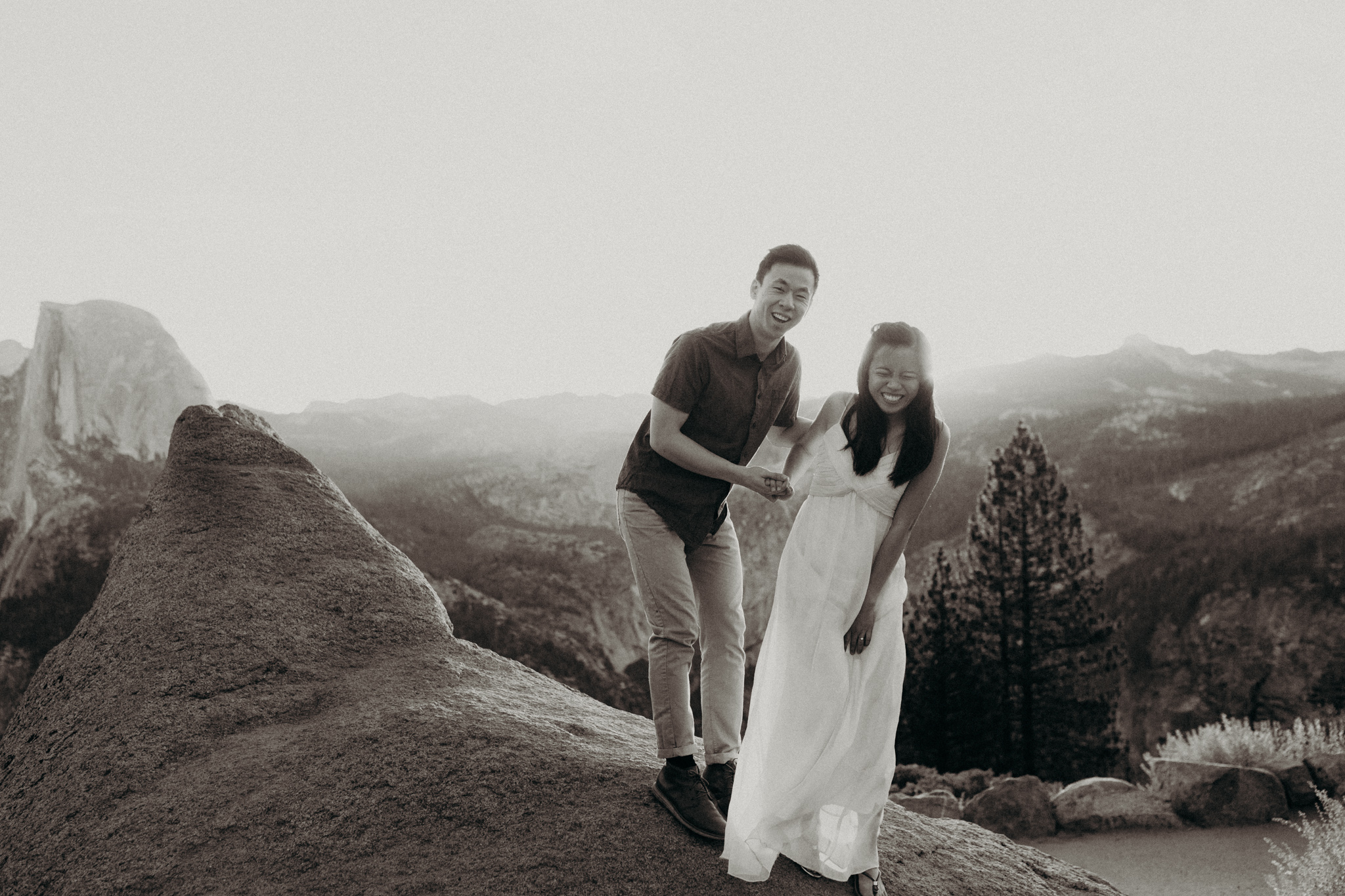 Sunrise at Glacier Point Yosemite Engagement Session-21.jpg