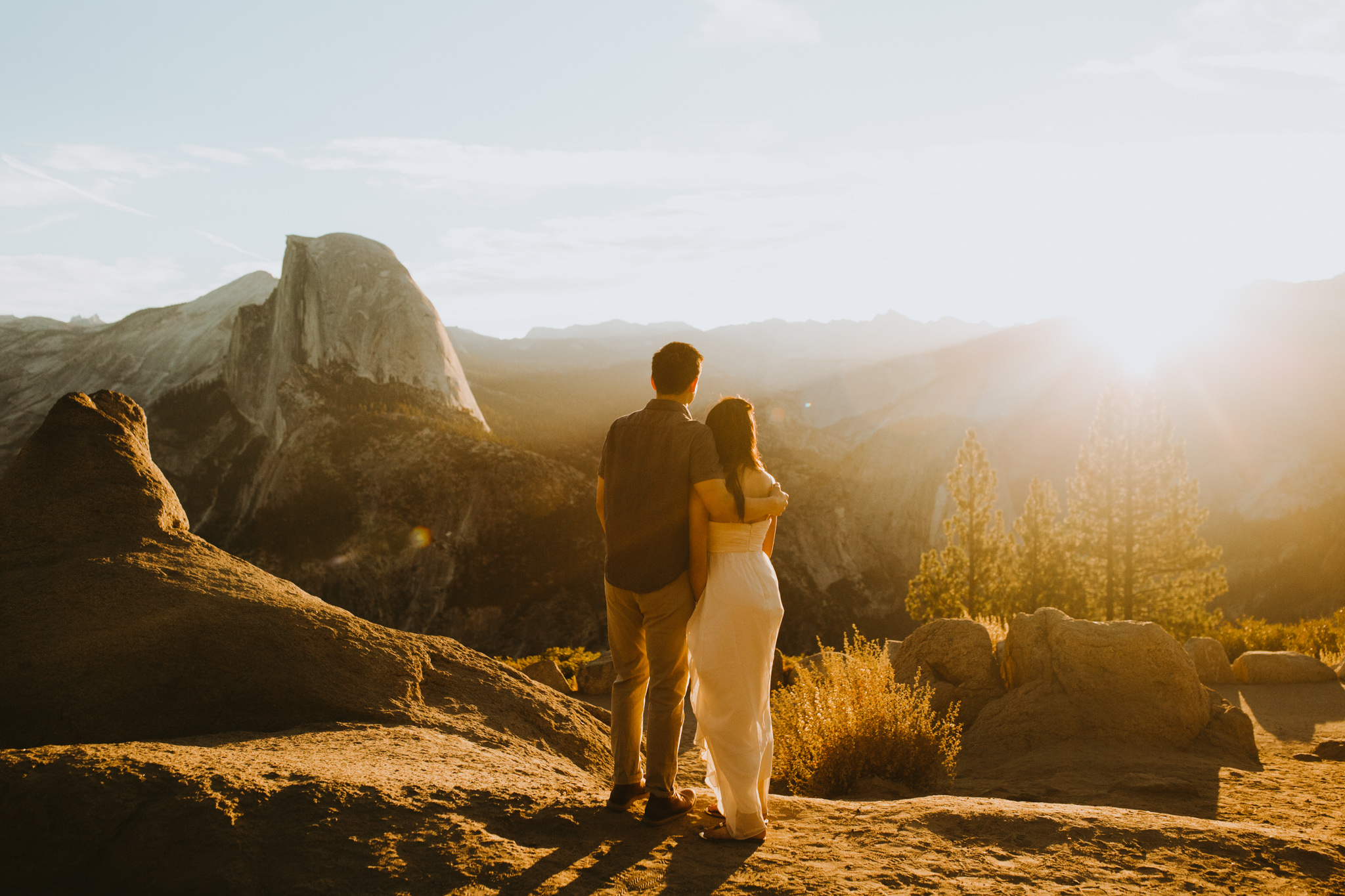 Sunrise at Glacier Point Yosemite Engagement Session-24.jpg