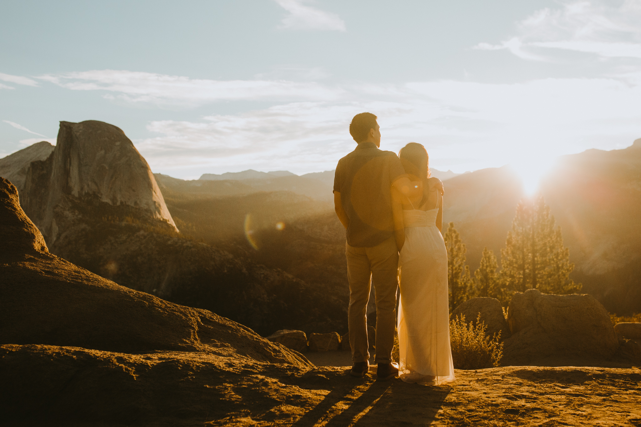 Sunrise at Glacier Point Yosemite Engagement Session-27.jpg