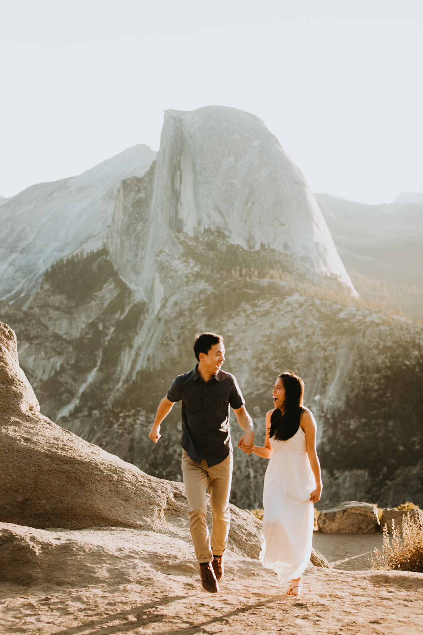 Sunrise at Glacier Point Yosemite Engagement Session-30.jpg
