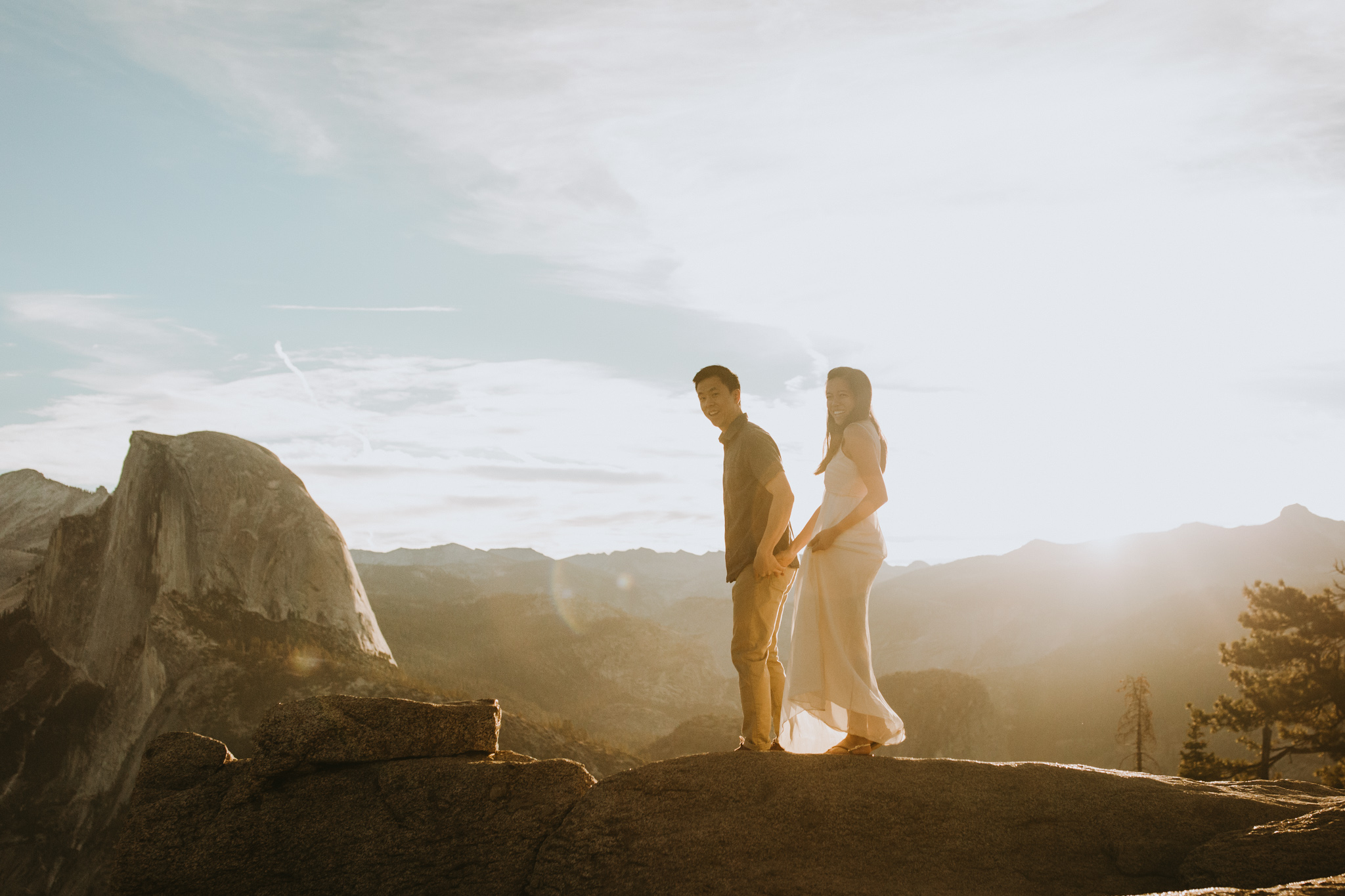 Sunrise at Glacier Point Yosemite Engagement Session-40.jpg