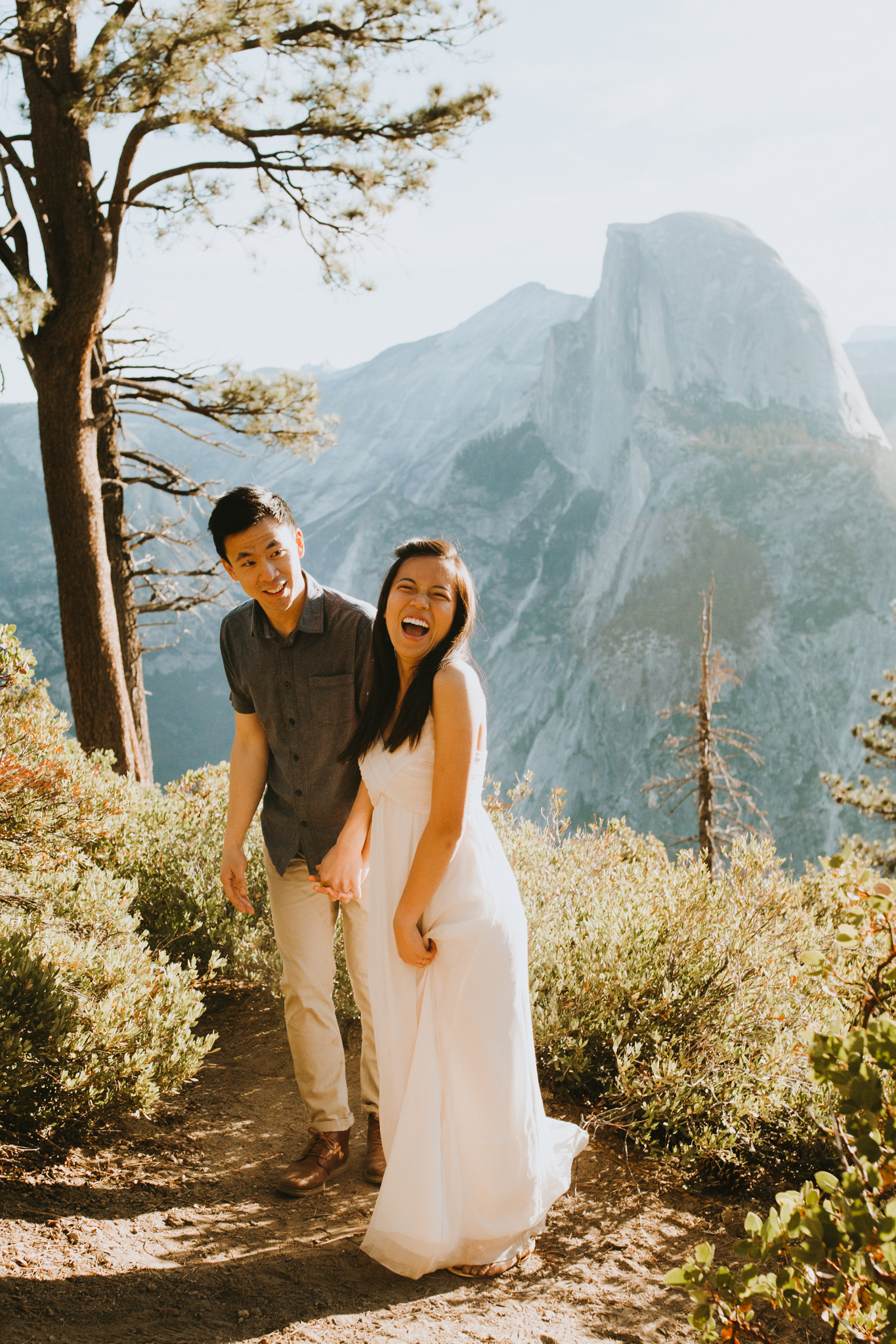 Sunrise at Glacier Point Yosemite Engagement Session-61.jpg