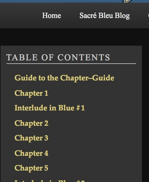 Sacre Bleu Chapter Guide - The annotated underbelly of a novel