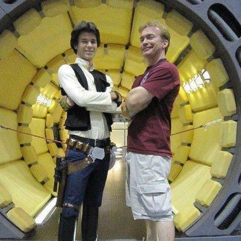 Shawn Moynihan and a certain scoundrel at Star Wars Celebration V