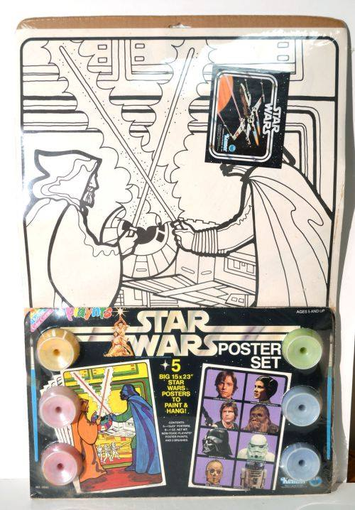 Playnts Paint-by-Numbers Coloring Kit - Similar but not the exact one that Moynihan had when he first saw  Star Wars  - which had the same poster but came with markers.