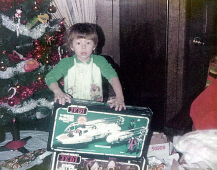 A young  Return of the Jedi -obsessed Broc Walker
