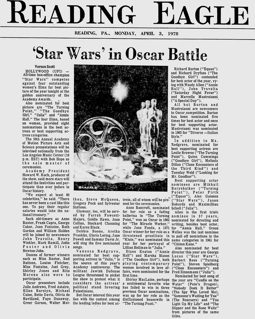 Reading Eagle - April 3rd, 1978 | Source:  mMathab (Flickr)