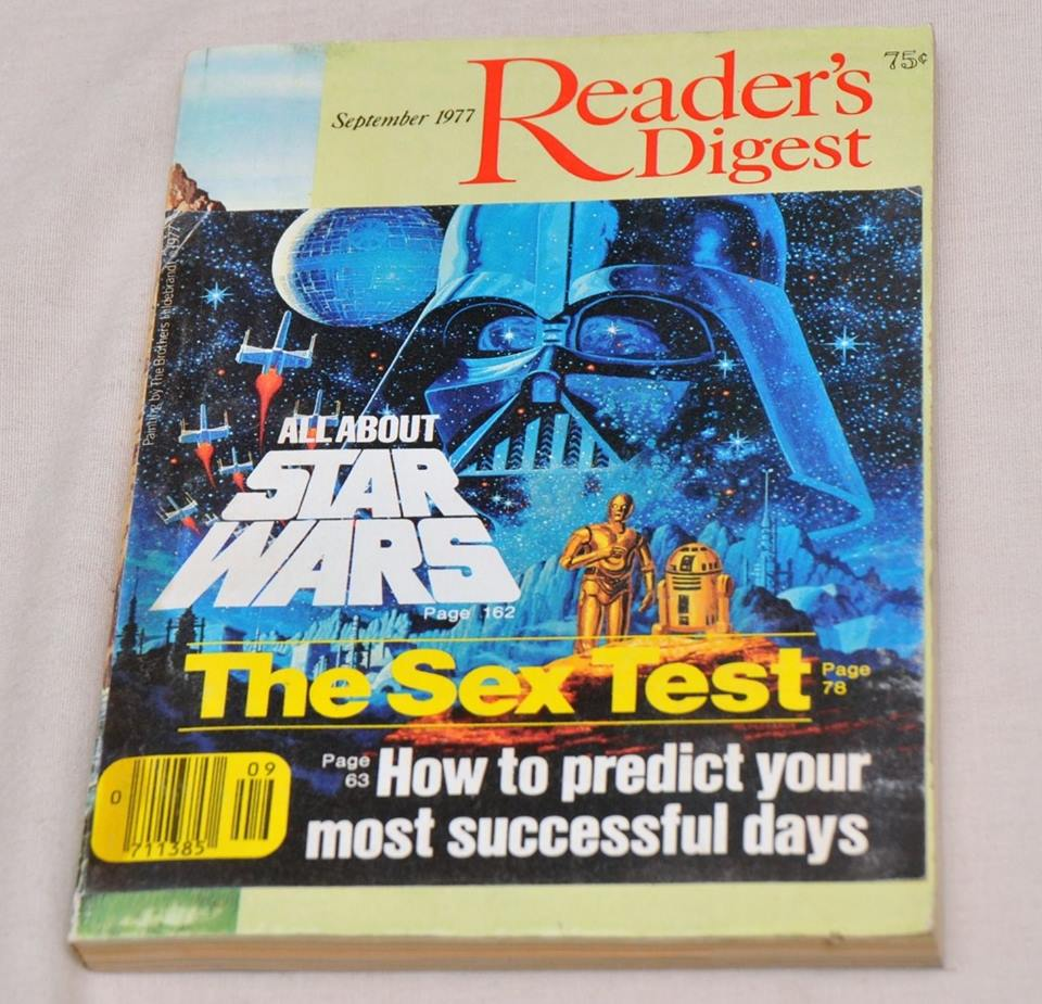 """September, 1977  Reader's Digest  (featuring  Star Wars  and """"The Sex Test"""")"""