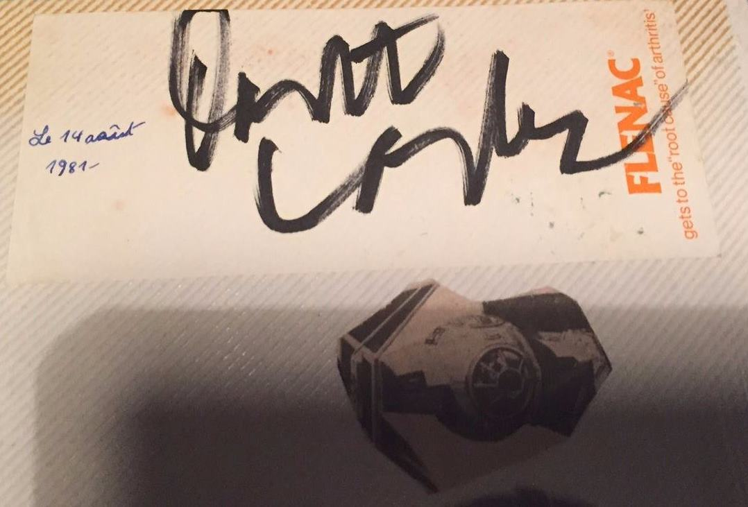 Zia's Darth Vader Autograph from Leicester, U.K. (August 14th, 1981)