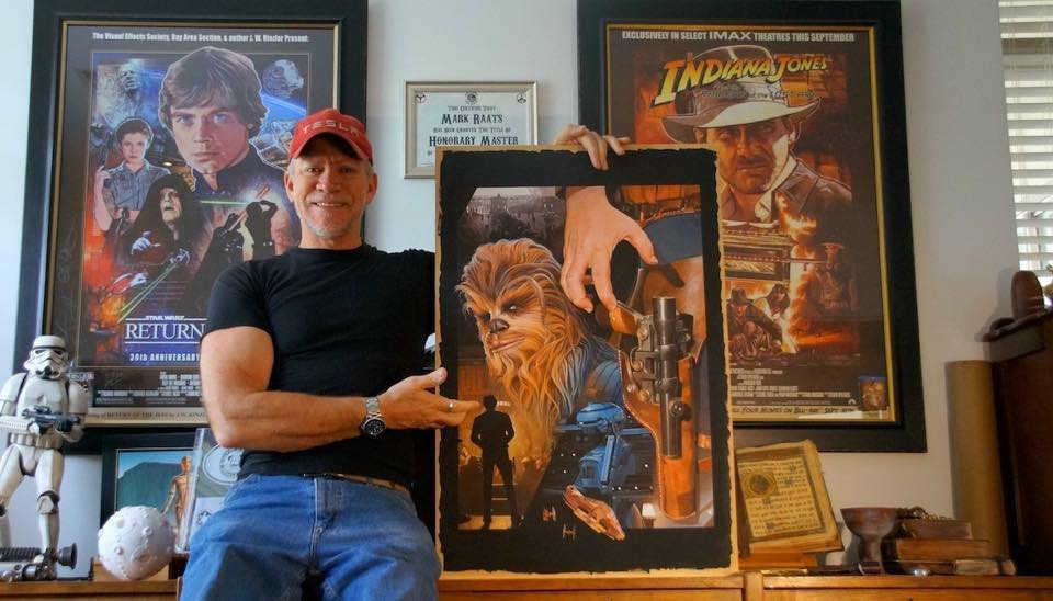 Mark Raats with his final artwork for SOLO