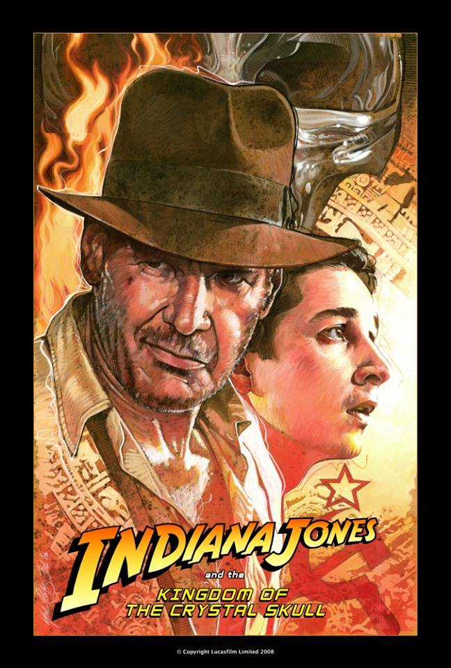 Indiana Jones and the Kingdom of the Crystal Skull  Teaser Poster - Image courtesy of Mark Raats